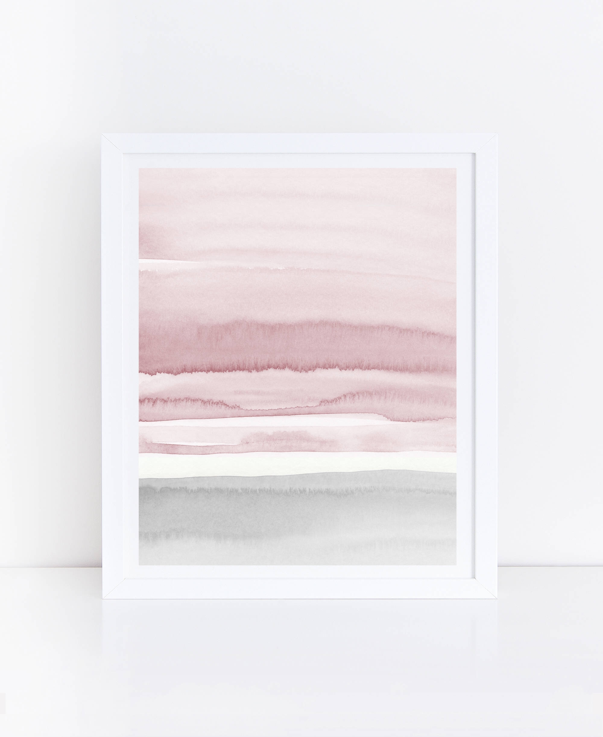 Blush Pink And Grey Abstract Art, Watercolor Printable Art With Regard To Latest Neutral Abstract Wall Art (View 15 of 20)