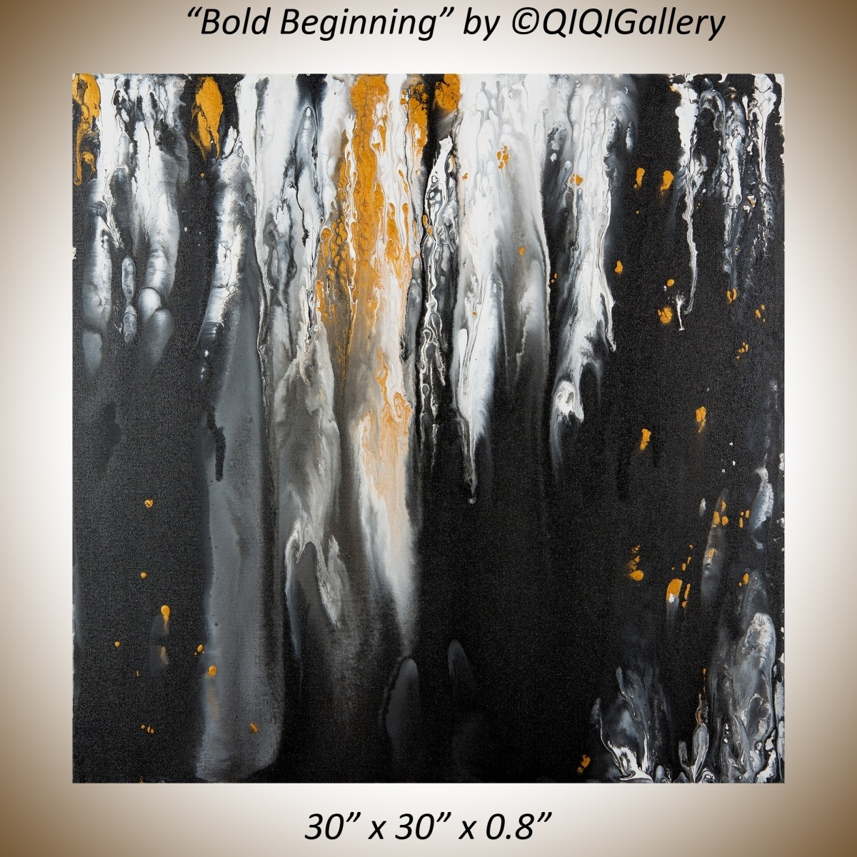 """Bold Beginningsqiqigallery 30""""x30"""" Stretched Canvas Original Intended For Latest Bold Abstract Wall Art (View 8 of 20)"""