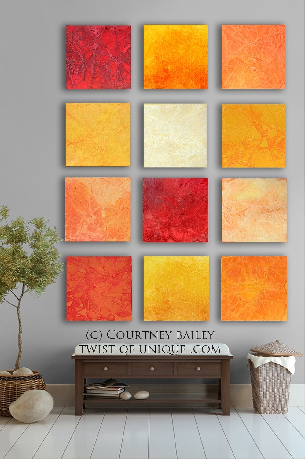 Bold Custom Abstract Painting, 12 Square Modern Abstract Wall Art Regarding Most Recently Released Abstract Orange Wall Art (View 7 of 20)
