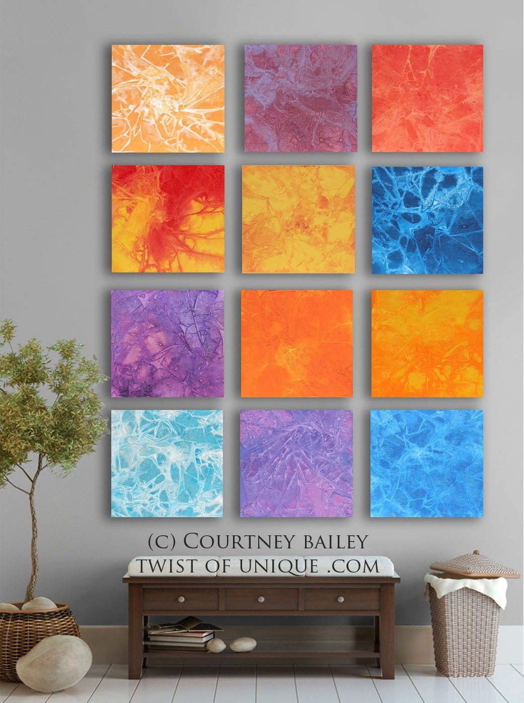 Bold Custom Abstract Painting, 12 Square Modern Abstract Wall Art Regarding Newest Bold Abstract Wall Art (View 13 of 20)