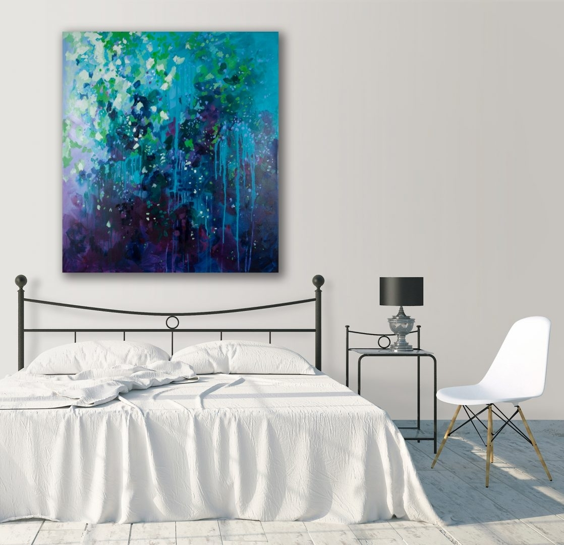 Botanical Abstract Canvas – Bright – Susan Nethercote Inside Newest Bright Abstract Wall Art (View 8 of 20)