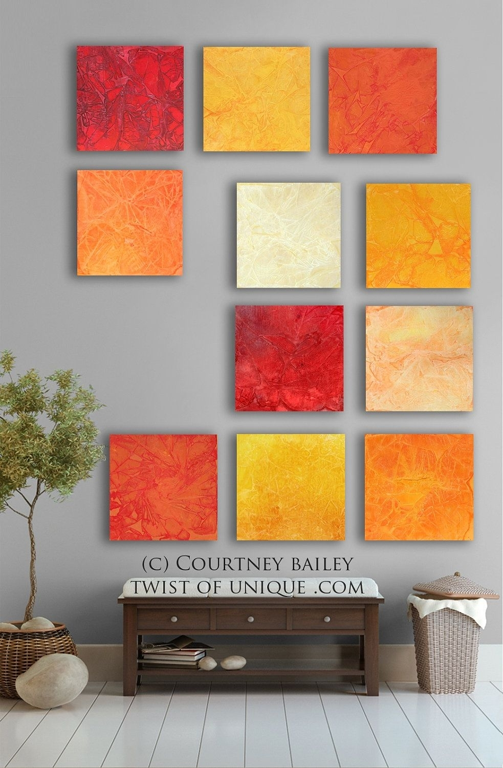 Bright Abstract Art, 11 Square Custom Abstract Wall Art, Large With Best And Newest Bright Abstract Wall Art (View 9 of 20)