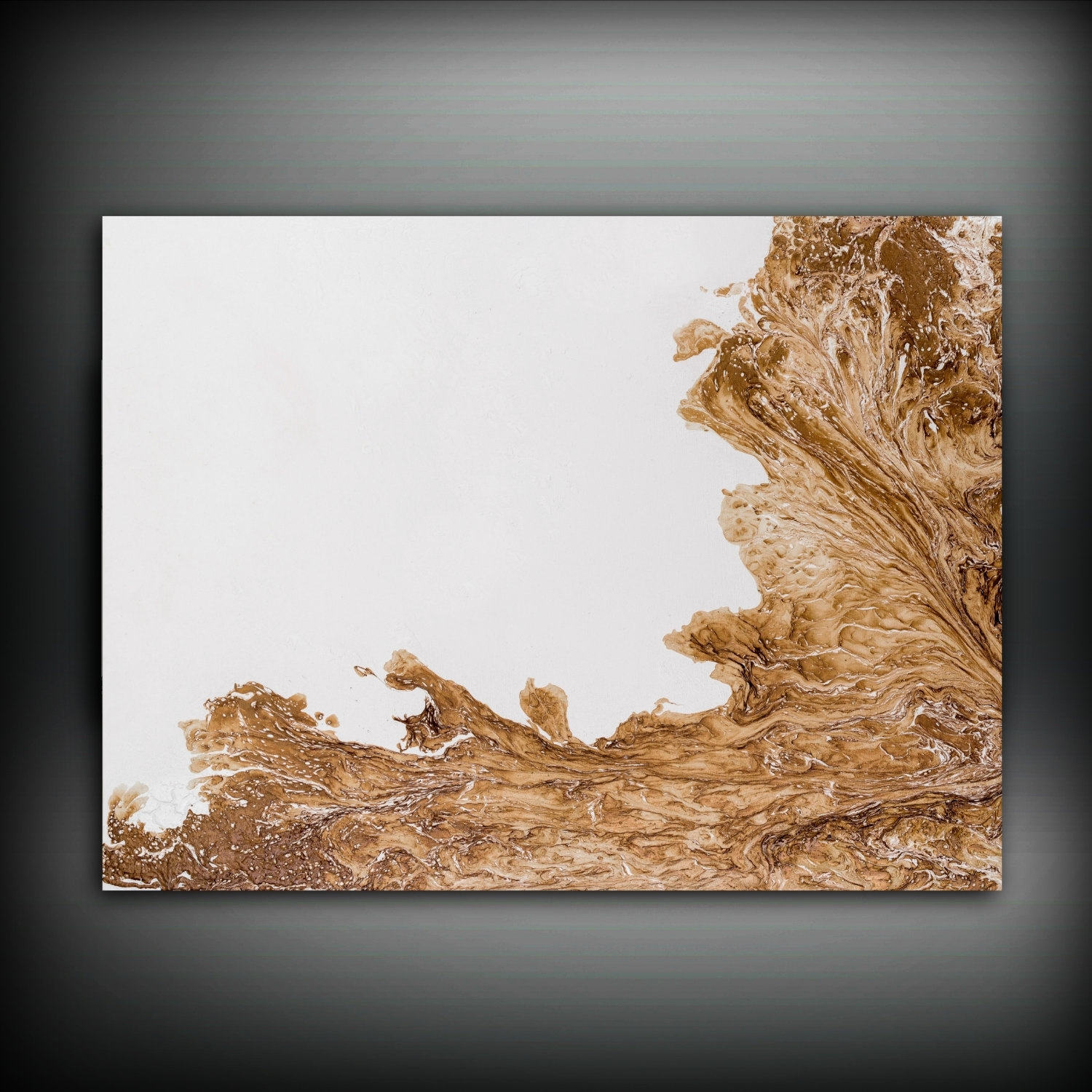Brown And White Painting 30X40 Abstract Painting Copper Painting With 2018 Brown Abstract Wall Art (View 8 of 20)