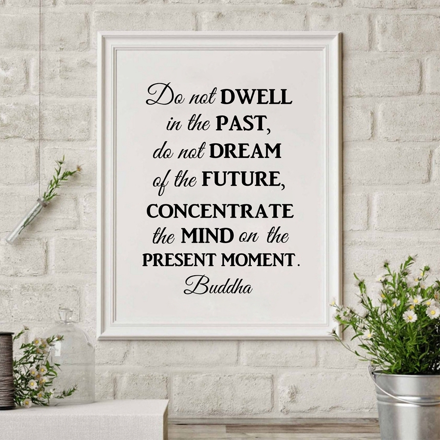 Buddha Philosophy Quote Wall Art Canvas Print Poster , Do Not Throughout Newest Dwell Abstract Wall Art (View 14 of 20)