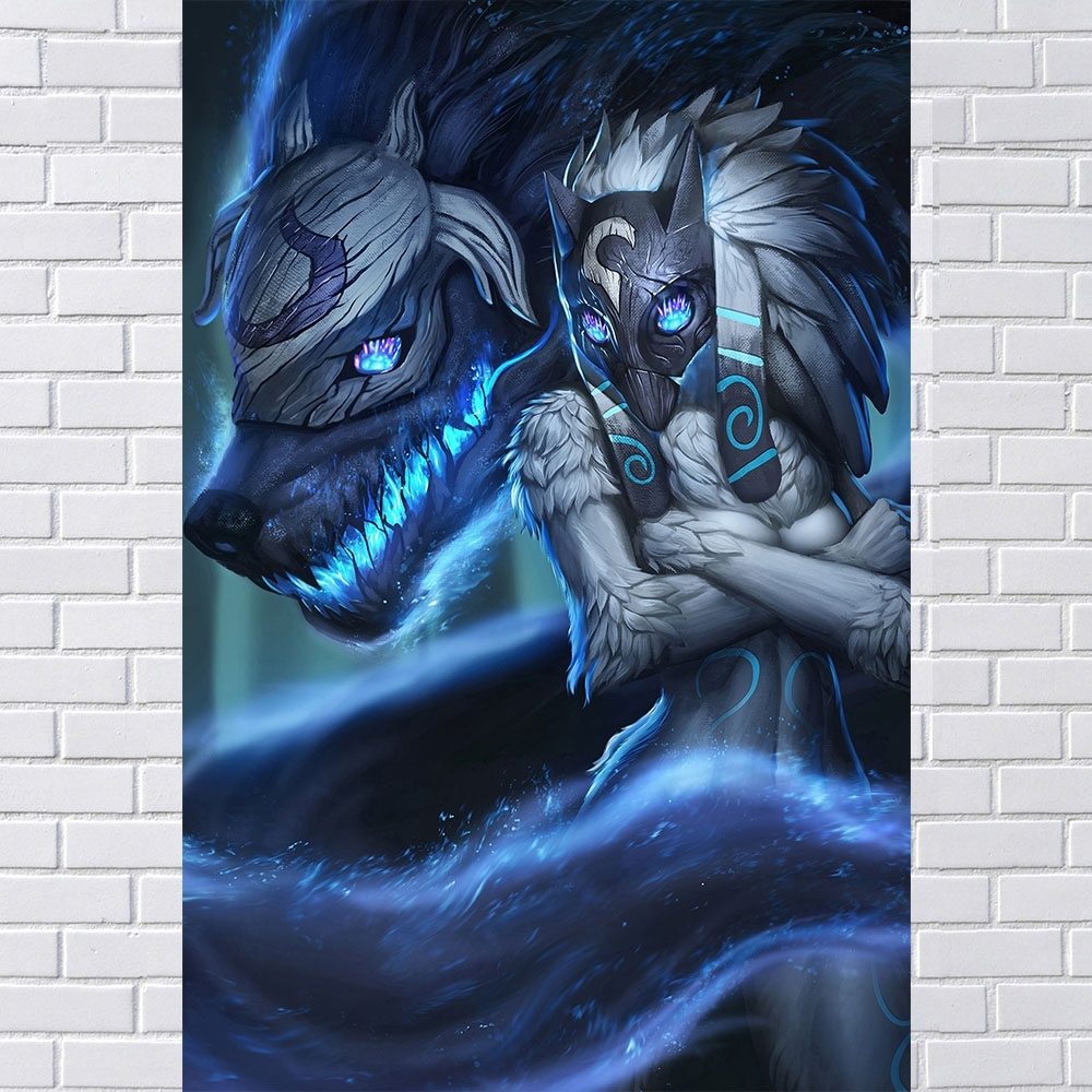 Buy League Legends Wall Art And Get Free Shipping On Aliexpress Intended For Newest Kindred Abstract Metal Wall Art (View 11 of 20)
