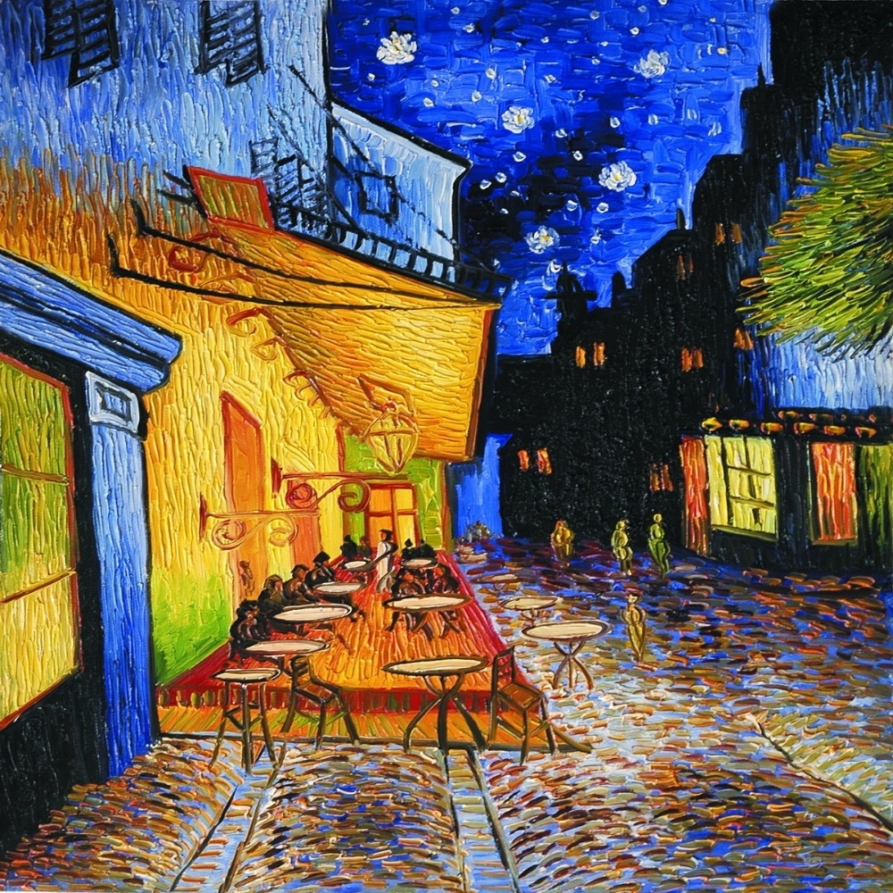 Cafe Terrace At Nightvincent Van Gogh Wall Canvas Prints Oil Intended For Recent Vincent Van Gogh Wall Art (View 6 of 20)