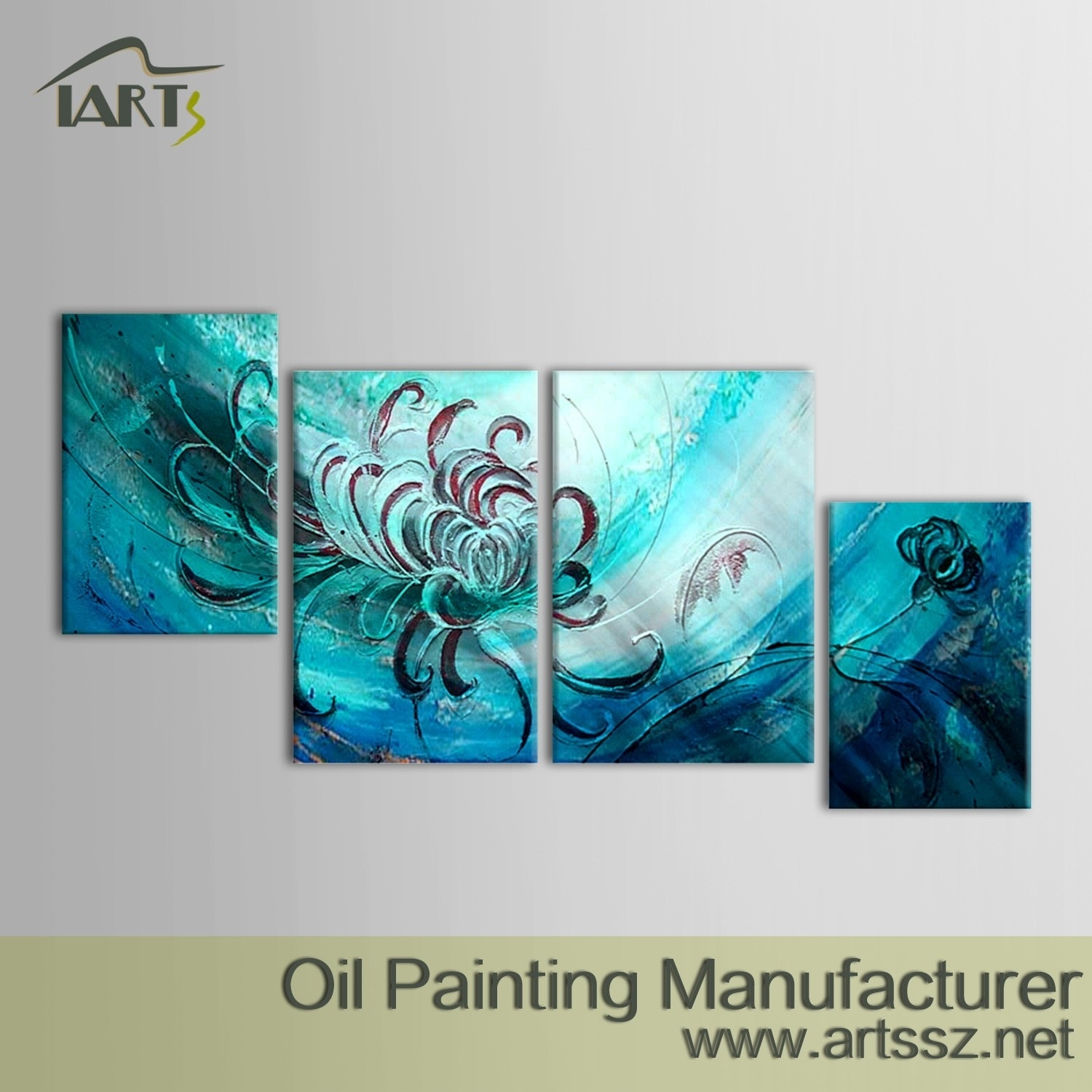 Calm Dreamqiqigallery Original Abstract Wall Paintings Pertaining To Most Recently Released Blue Canvas Abstract Wall Art (View 5 of 20)