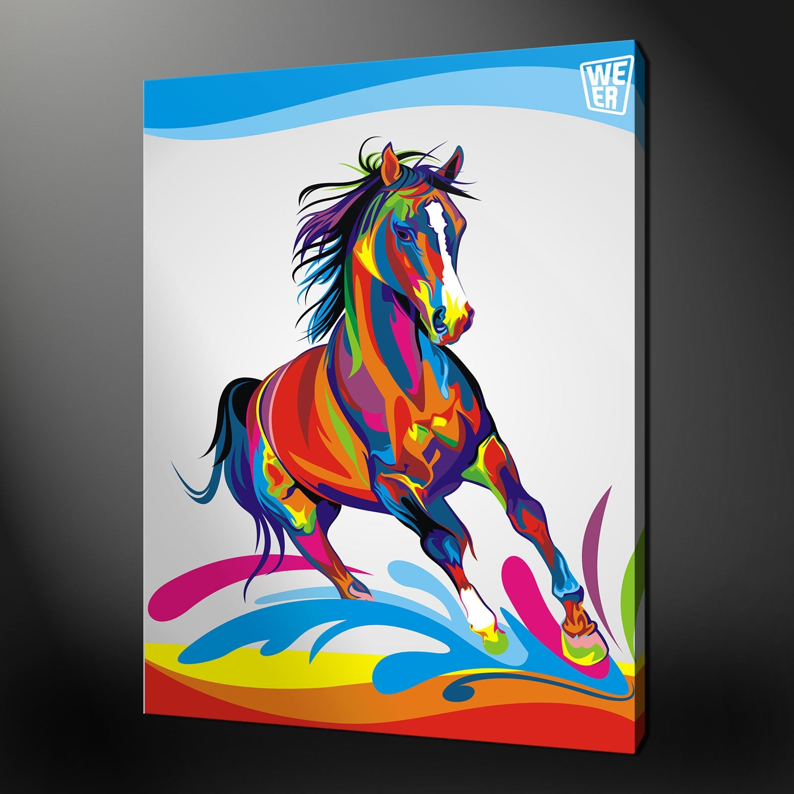Featured Photo of Abstract Horse Wall Art