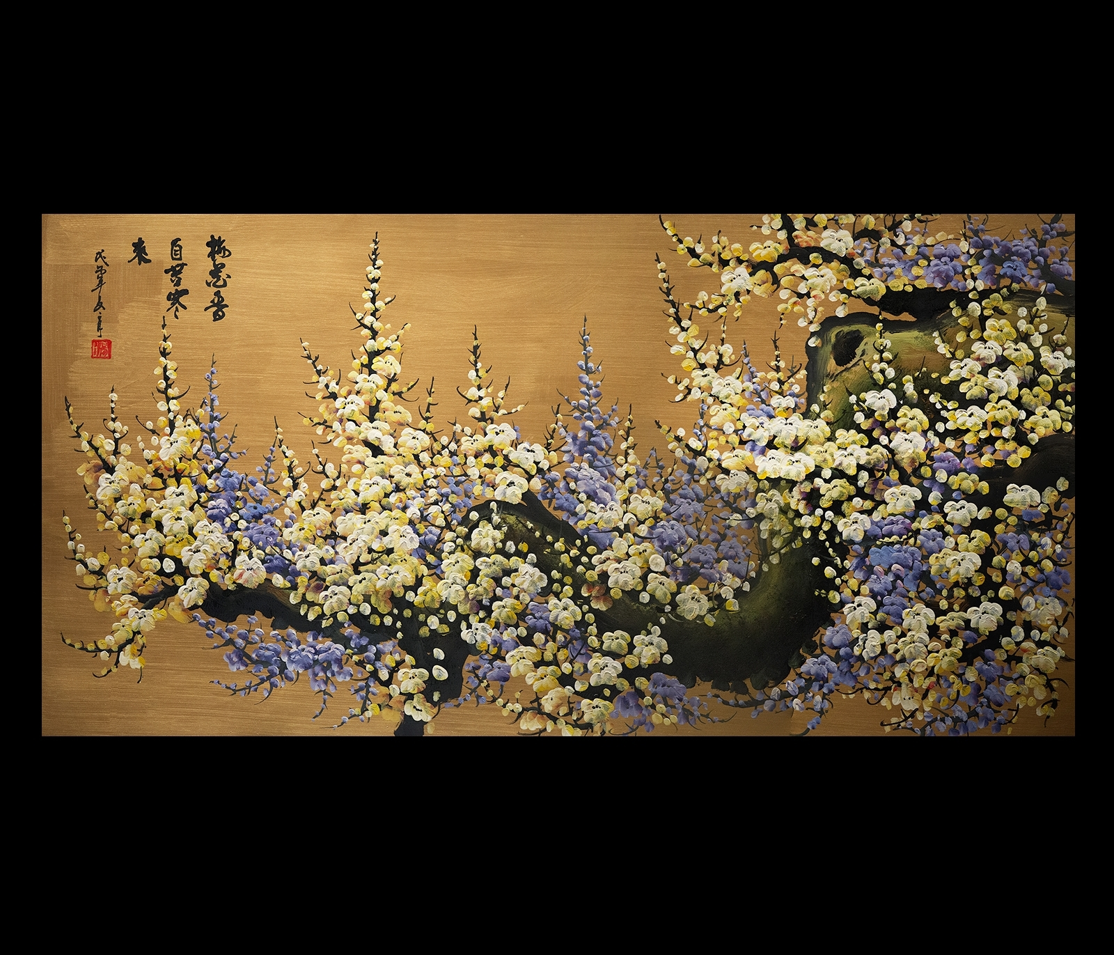 Canvas Wall Art Japanese Cherry Blossom Painting Feng Shui With Current Cherry Blossom Oil Painting Modern Abstract Wall Art (View 19 of 20)