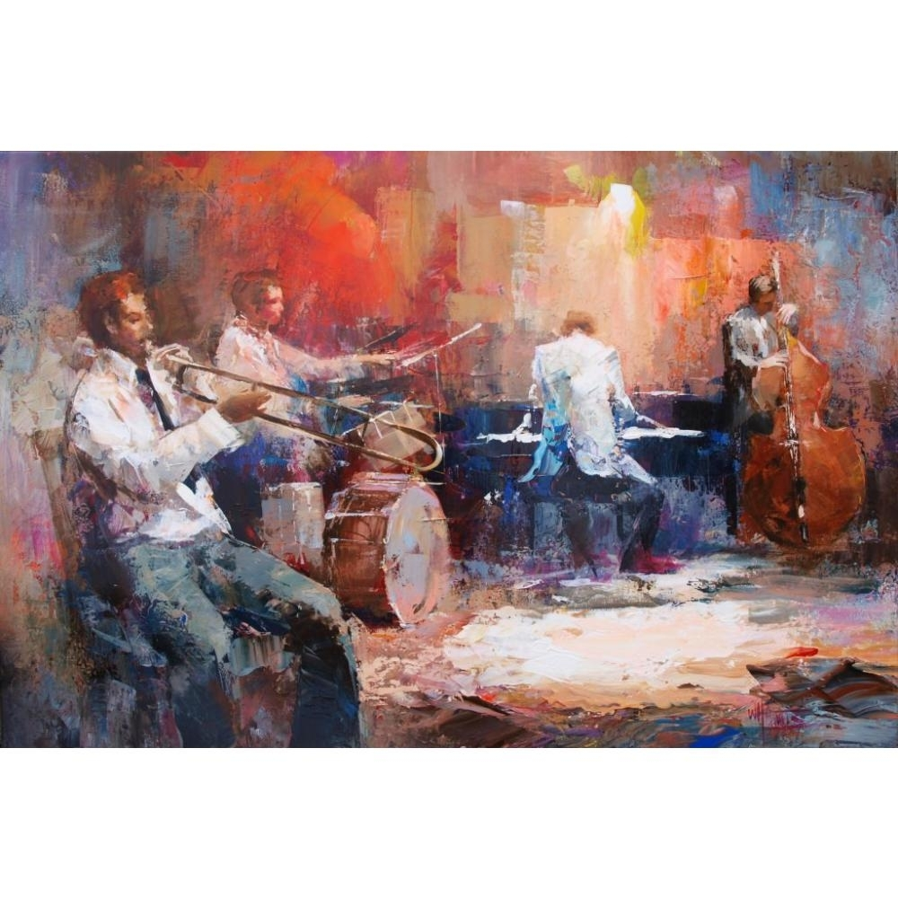 Canvas Wall Art Music Jazz Band Willem Haenraets Canvas Oil With Regard To Most Recent Abstract Jazz Band Wall Art (View 4 of 20)