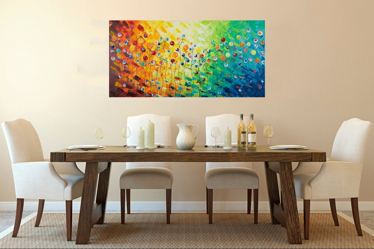 "Celebrationqiqigallery 48""x24"" Original Modern Abstract Wall Pertaining To 2018 Abstract Wall Art For Office (View 10 of 20)"