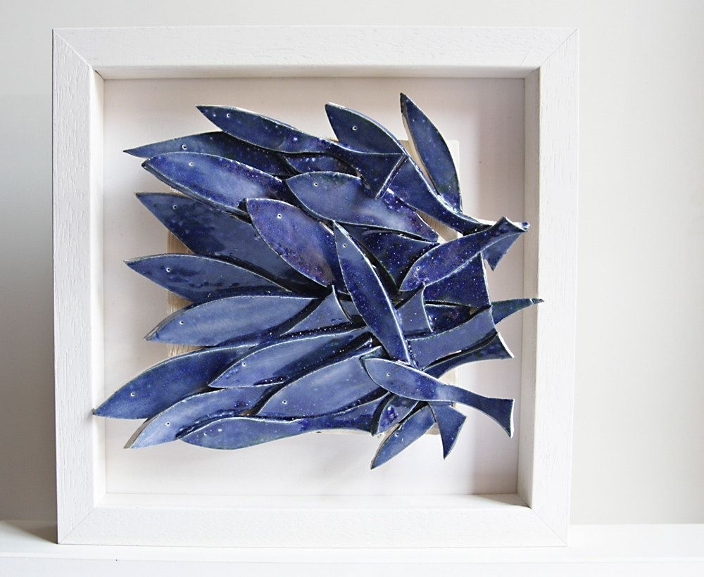 Ceramic Wall Art, Ceramic Fish Art, Sculptural Pottery Tile, Wall Within Most Current Abstract Nautical Wall Art (View 5 of 20)