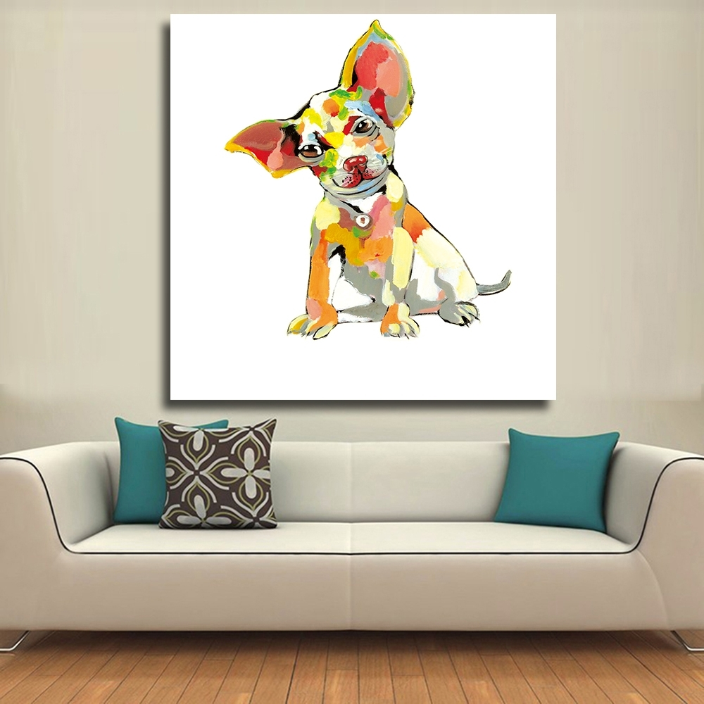 Chenfart Decorative Paintings Modern Canvas Oil Painting Abstract With 2017 Abstract Dog Wall Art (View 7 of 20)