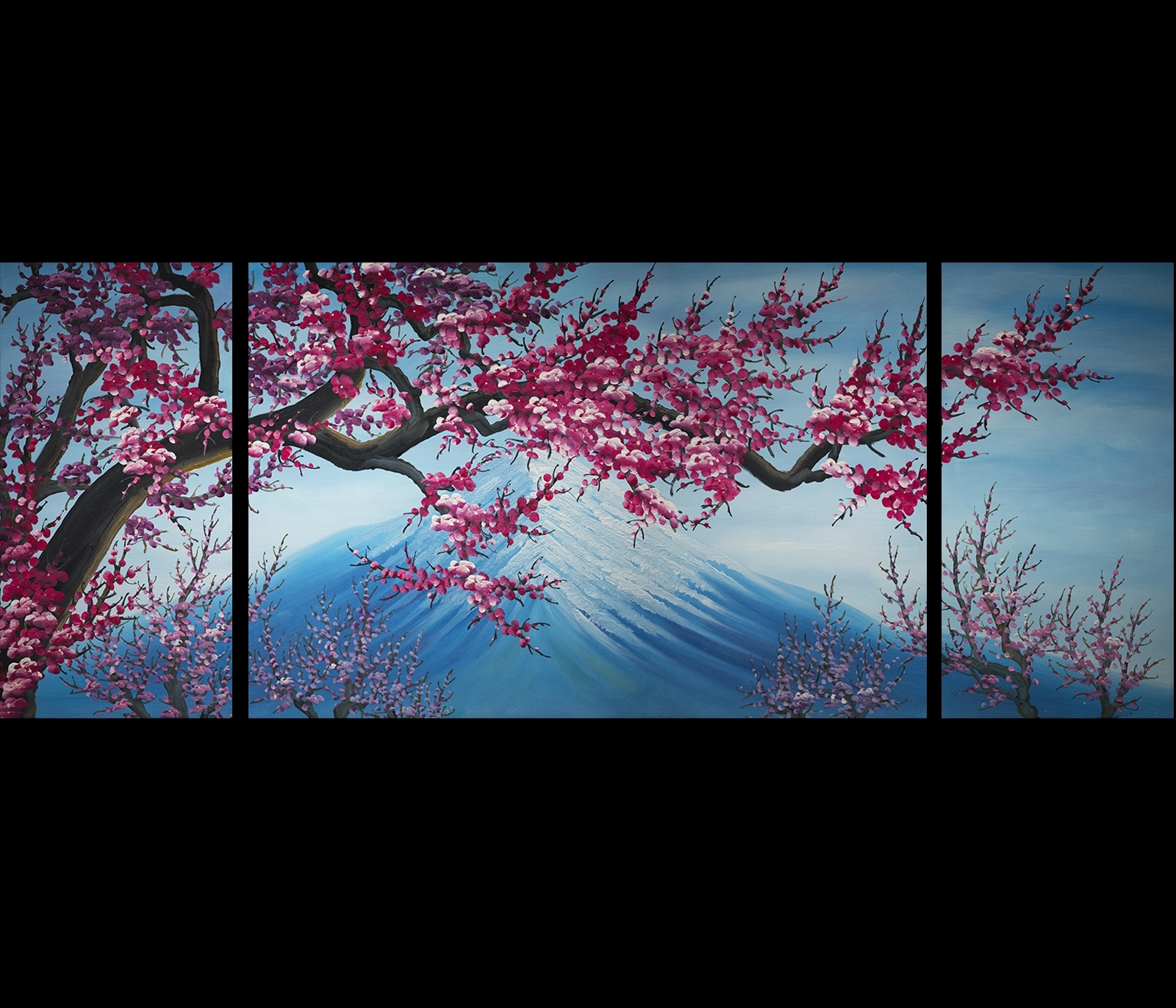 Cherry Blossom Canvas Wall Art Modern Abstract Art Home Decor In Most Popular Abstract Nature Wall Art (View 14 of 20)