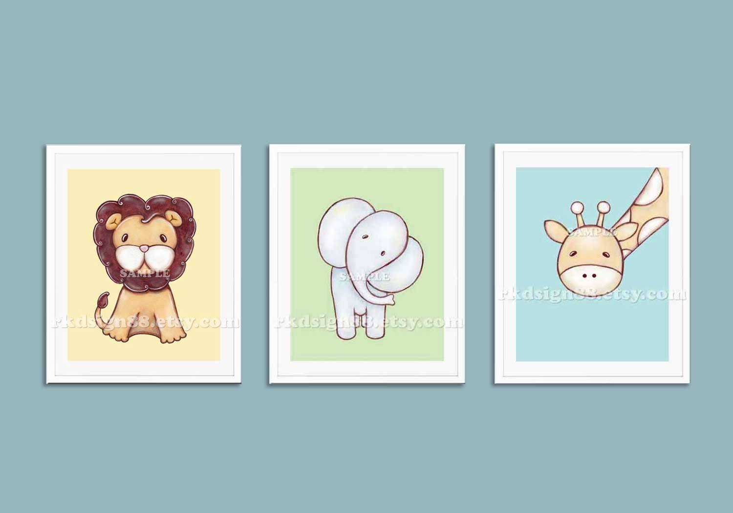 Childrens Wall Art Nursery Art Prints Baby Boy Nursery Within Most Popular Baby Animal Wall Art (View 20 of 20)