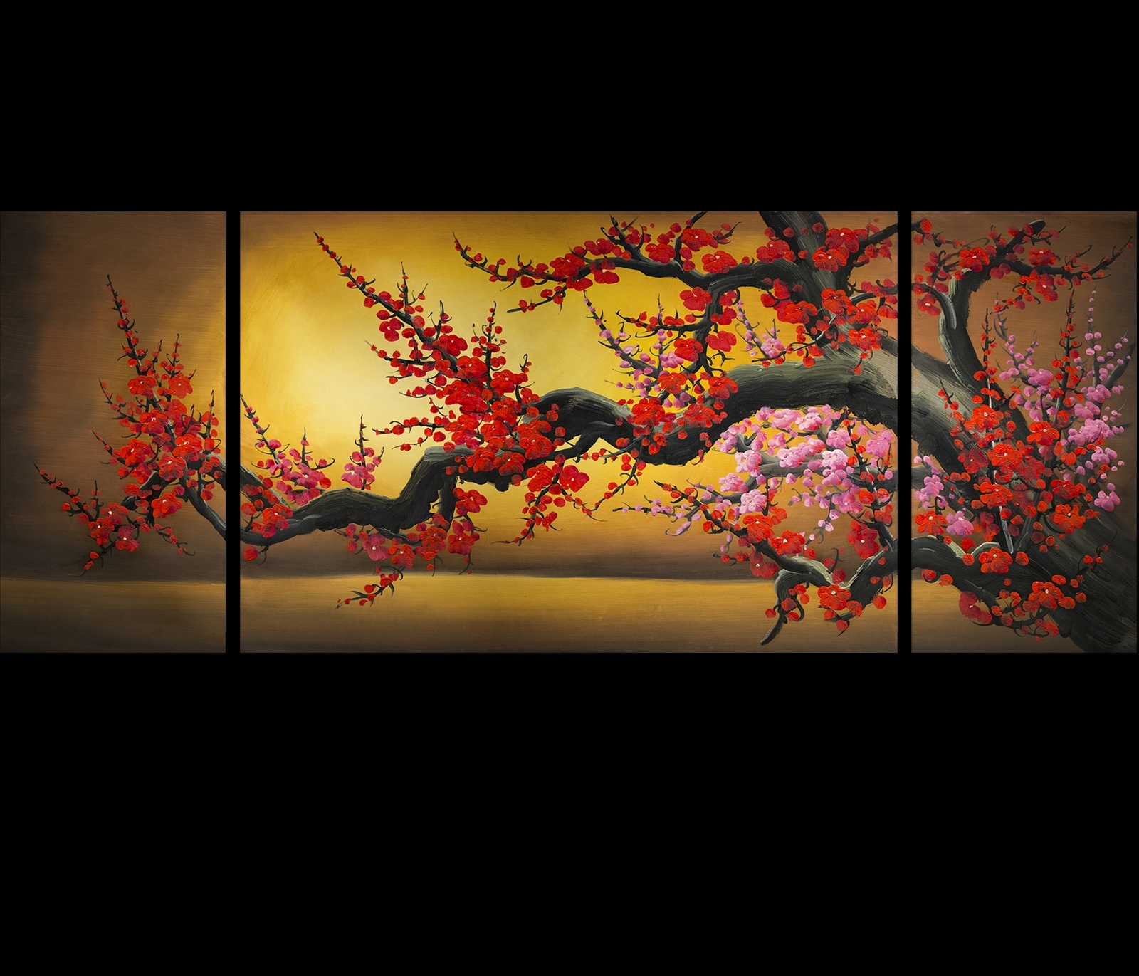 Chinese Cherry Blossom Painting Original Modern Abstract Art With Regard To Most Recently Released Abstract Cherry Blossom Wall Art (Gallery 6 of 20)