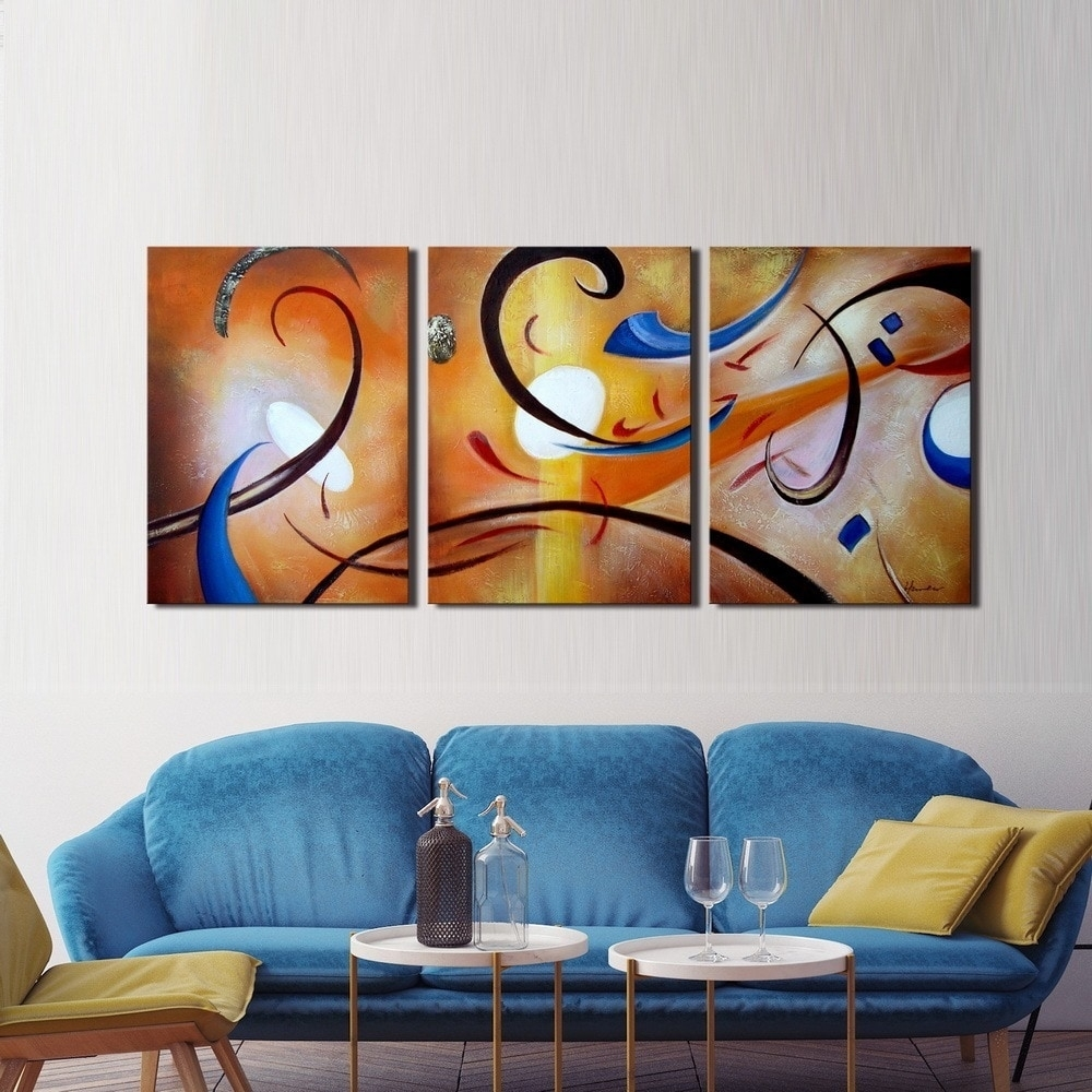 Clay Alder Home Happiness Abstract' Hand Painted Gallery Wrapped For Best And Newest Happiness Abstract Wall Art (View 6 of 20)