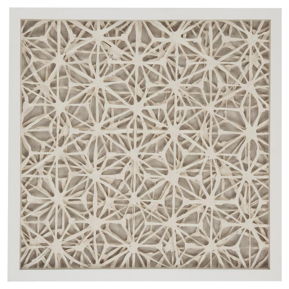 Coastal Modern Abstract Paper Framed Wall Art – Ii | Kathy Kuo Home Intended For 2017 Neutral Abstract Wall Art (View 7 of 20)