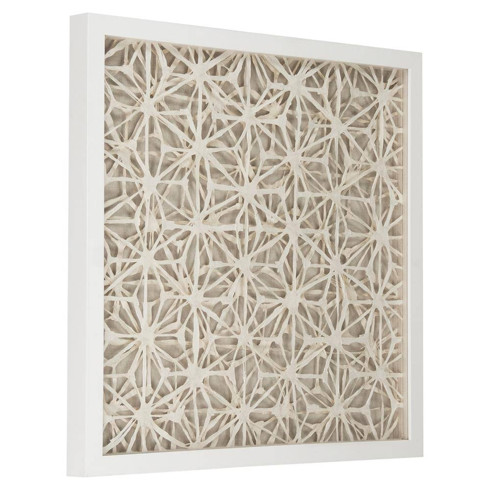 Coastal Modern Abstract Paper Framed Wall Art – Ii | Kathy Kuo Home With Current Framed Coastal Wall Art (View 5 of 20)