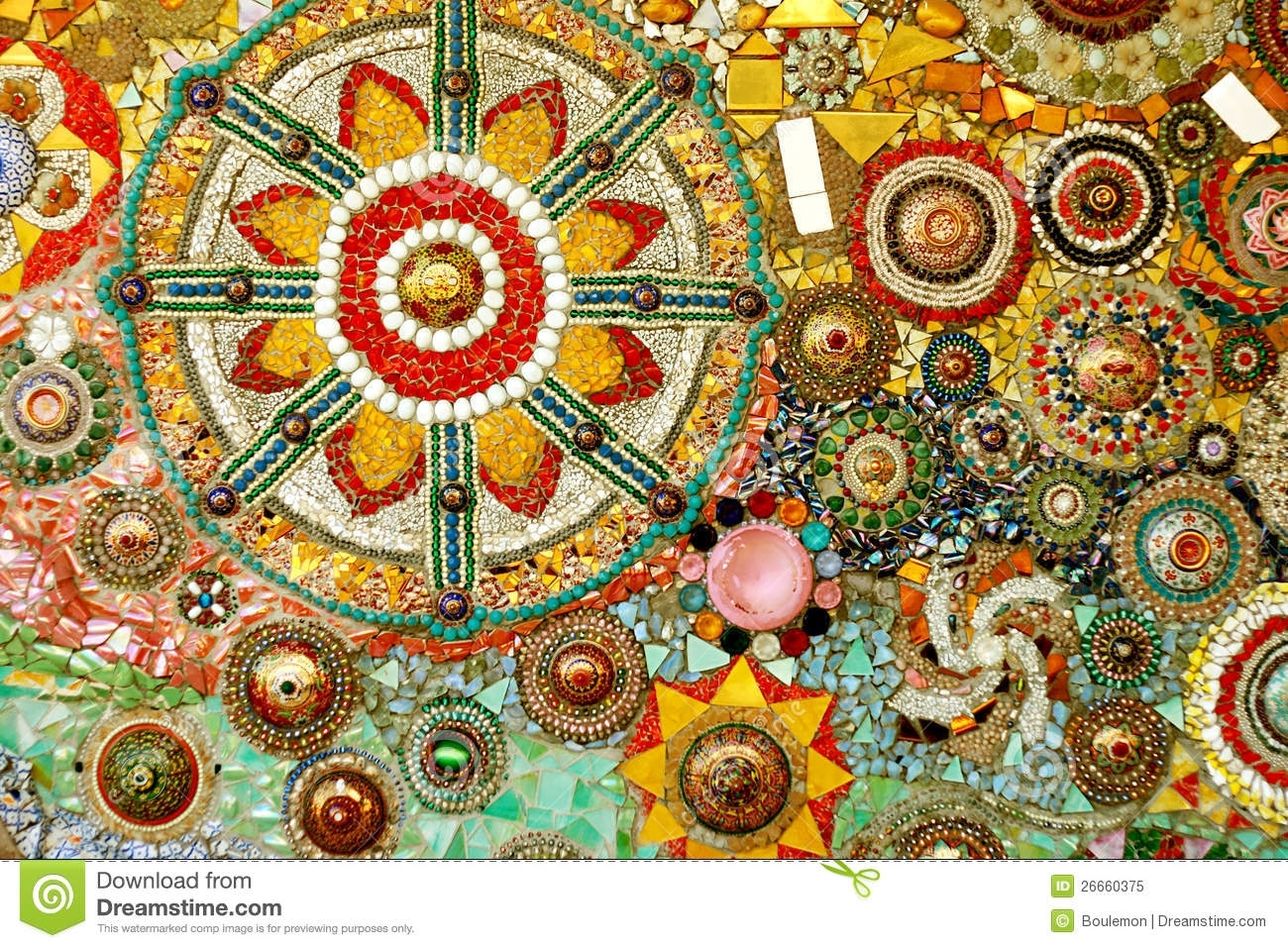 Colorful Glass Mosaic Art And Abstract Wall Backgr Stock Image In Current Abstract Mosaic Art On Wall (View 9 of 20)