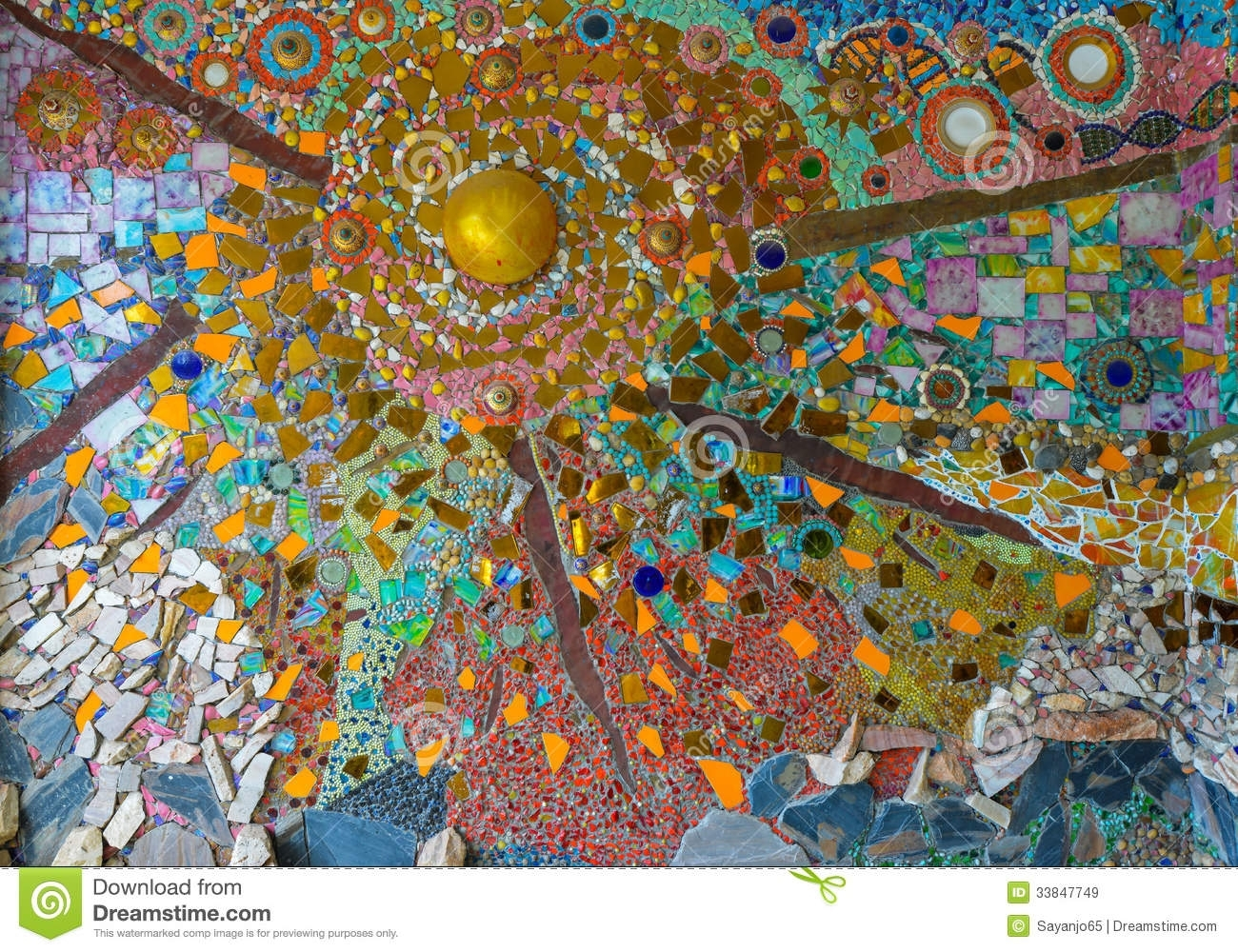Colorful Glass Mosaic Art,abstract Wall Background (View 9 of 20)
