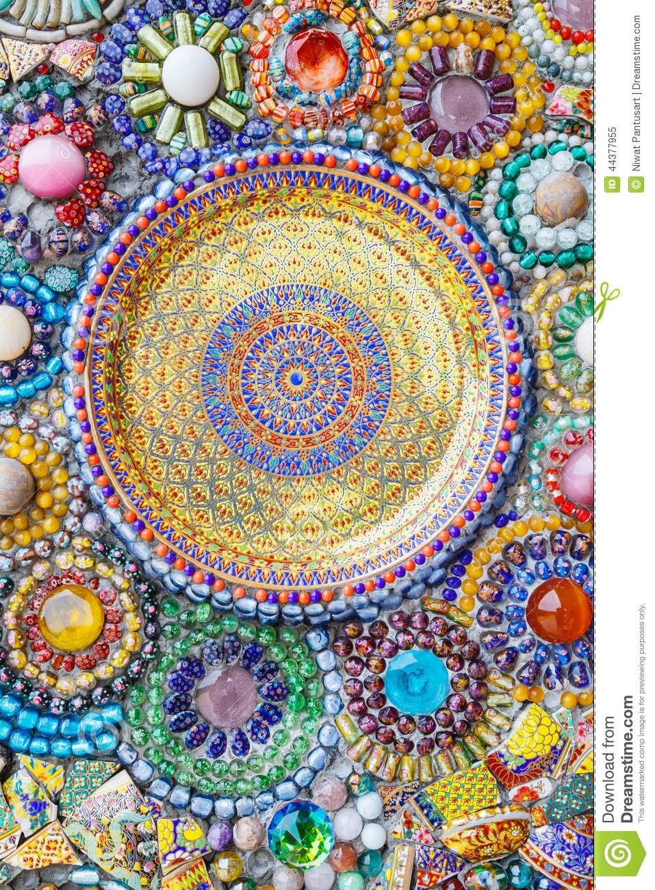 Colorful Mosaic Art Abstract Wall Background Stock Image – Image Regarding 2018 Abstract Mosaic Wall Art (View 10 of 20)