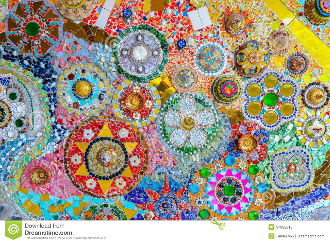 Colorful Mosaic Art And Abstract Wall Background (View 15 of 20)