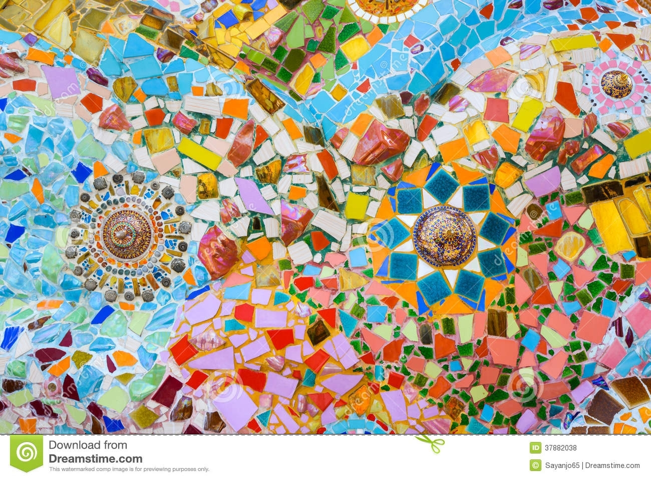 Colorful Mosaic Art And Abstract Wall Background (View 16 of 20)