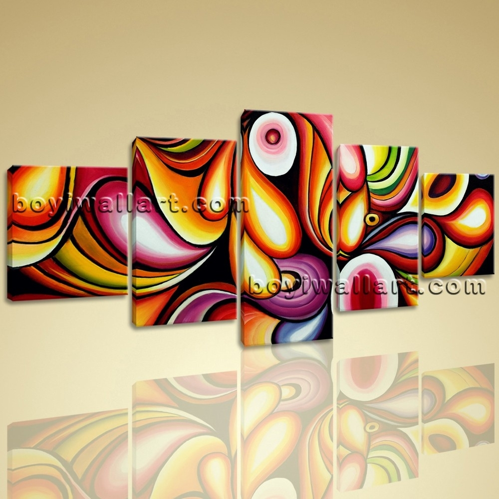 Colorful Wall Art Living Room Decoration Ideas Modern Abstract Regarding Most Current Abstract Wall Art For Living Room (View 8 of 20)