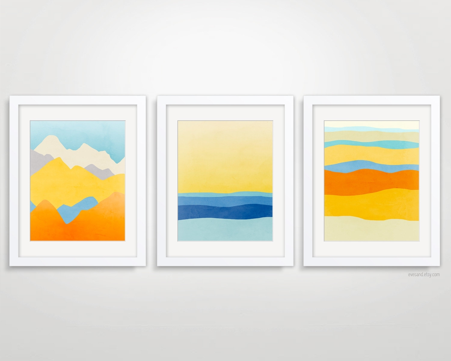 Colorful Wall Art Set Of 3 Prints, Abstract Art Prints, Living With Regard To Current Abstract Calendar Art Wall (View 14 of 20)