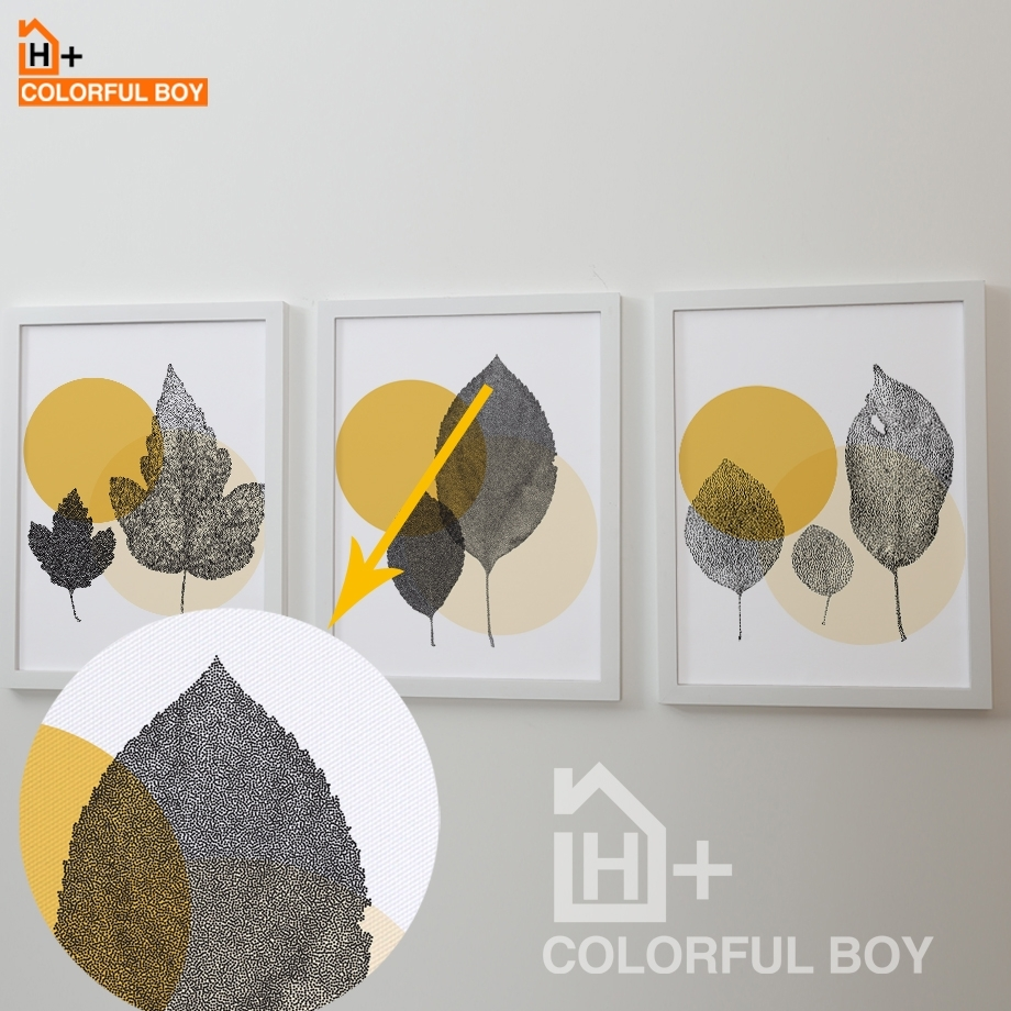 Colorfulboy Minimalism Nordic Abstract Leaves Canvas Painting Wall For 2017 Abstract Leaves Wall Art (View 15 of 20)