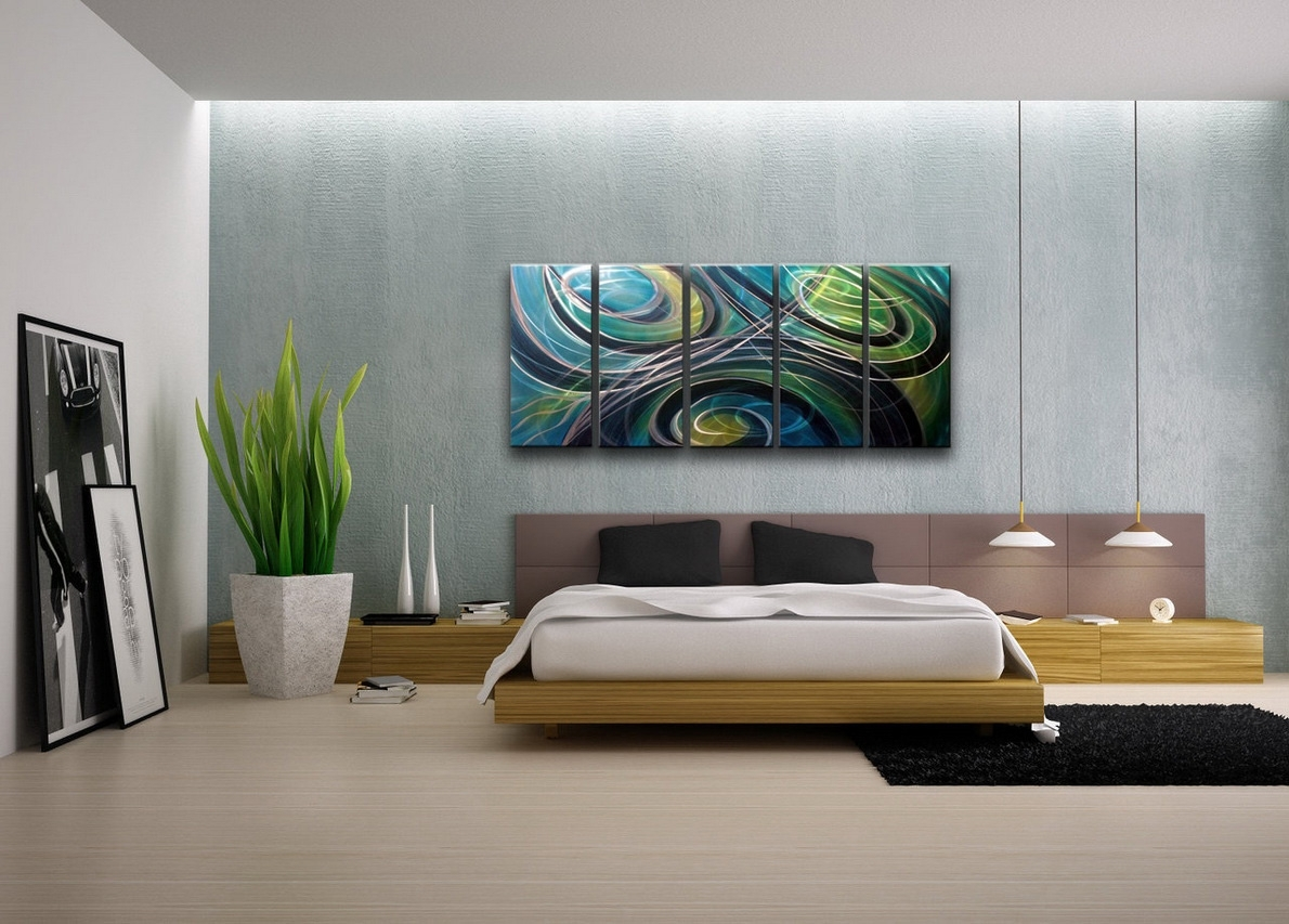 Contemporary Wall Art Decor Colors | Sorrentos Bistro Home In 2018 Abstract Wall Art For Bedroom (View 10 of 21)