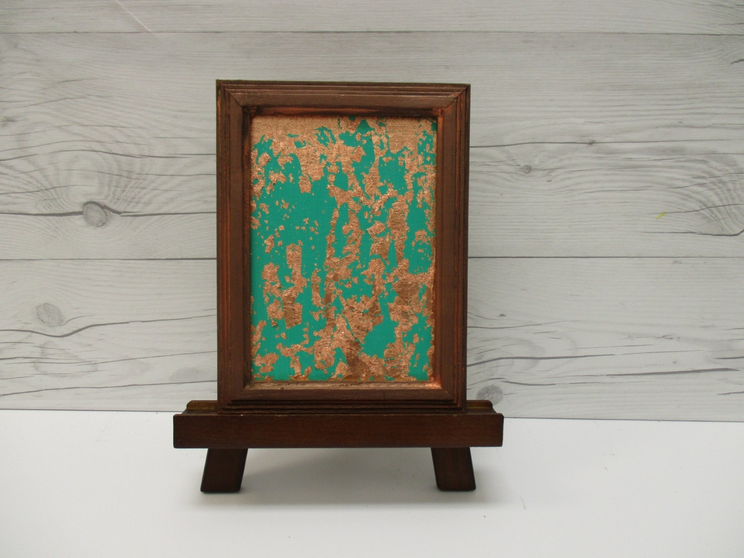 Copper Wall Art, Copper Leaf, Emerald Green Abstract, Green In Current Abstract Leaves Wall Art (View 7 of 20)