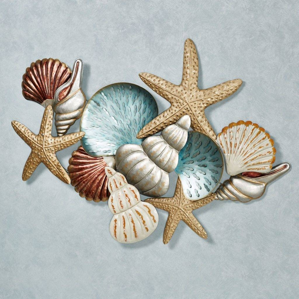 Crazy Coastal Metal Wall Art Blue 3D Decor Outdoor Exterior Within Most Recently Released Coastal Wall Art Decor (View 16 of 20)