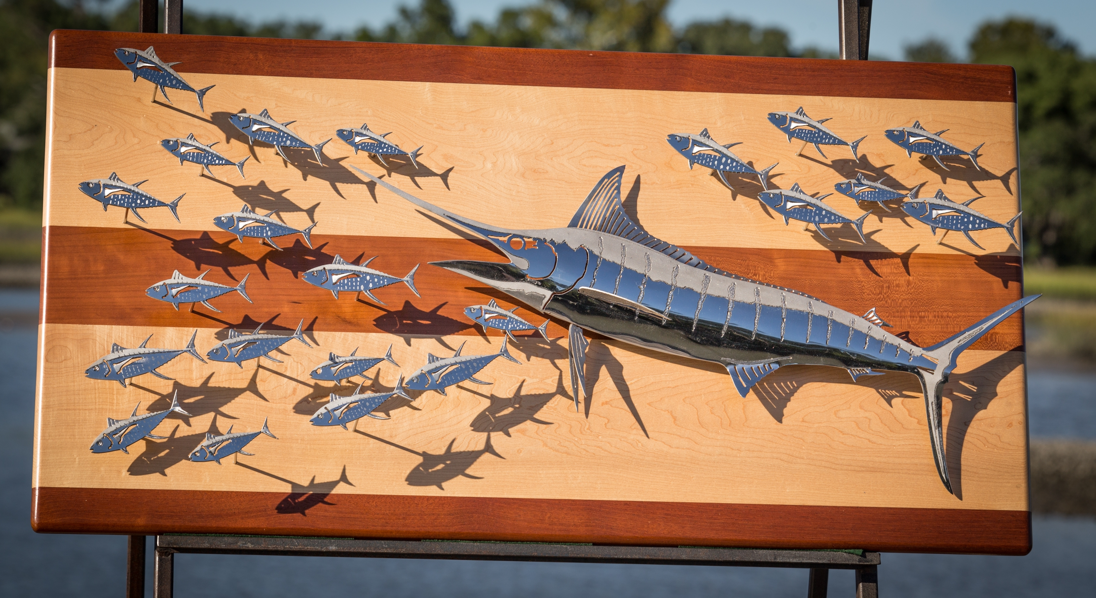 Custom Art And Sculptures | R Mended Metals Throughout Best And Newest Abstract Metal Fish Wall Art (View 2 of 20)