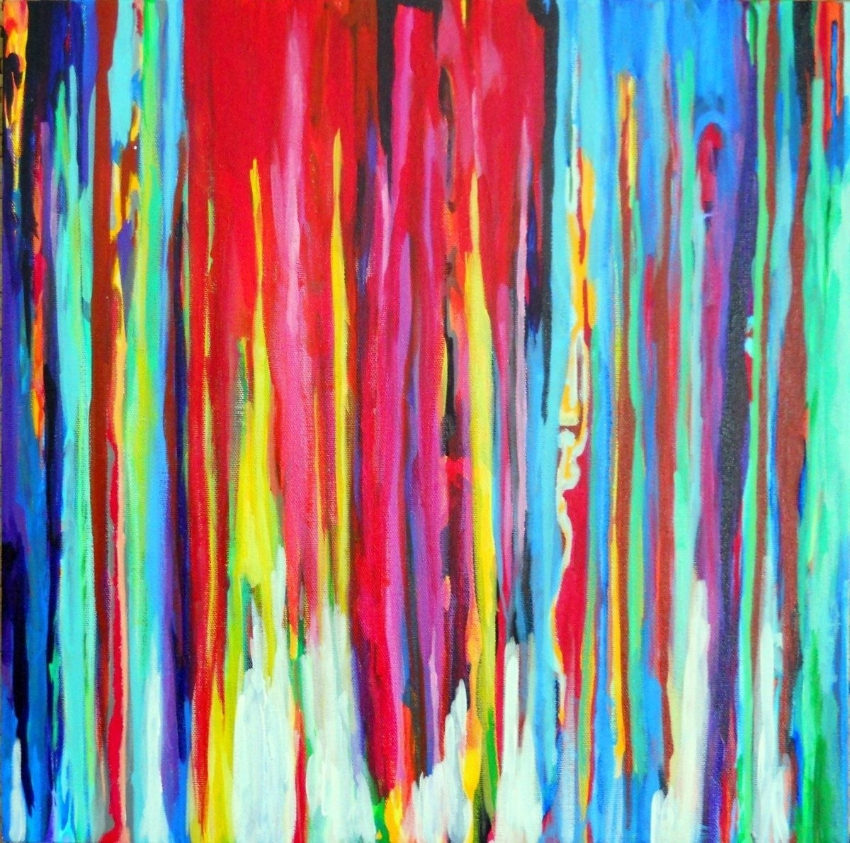 Custom Made Neon Abstract Acrylic Paintingprecious Beast Pertaining To Best And Newest Abstract Neon Wall Art (View 8 of 20)