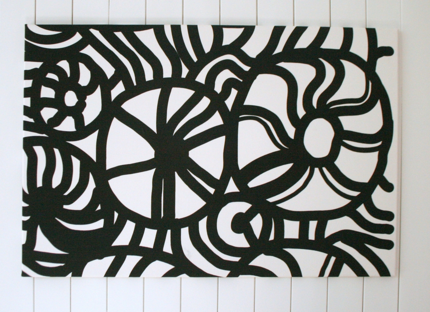 Decoration Ideas: Good Black And White Abstract Fabric Wall Art As Within 2017 Abstract Fabric Wall Art (View 3 of 20)