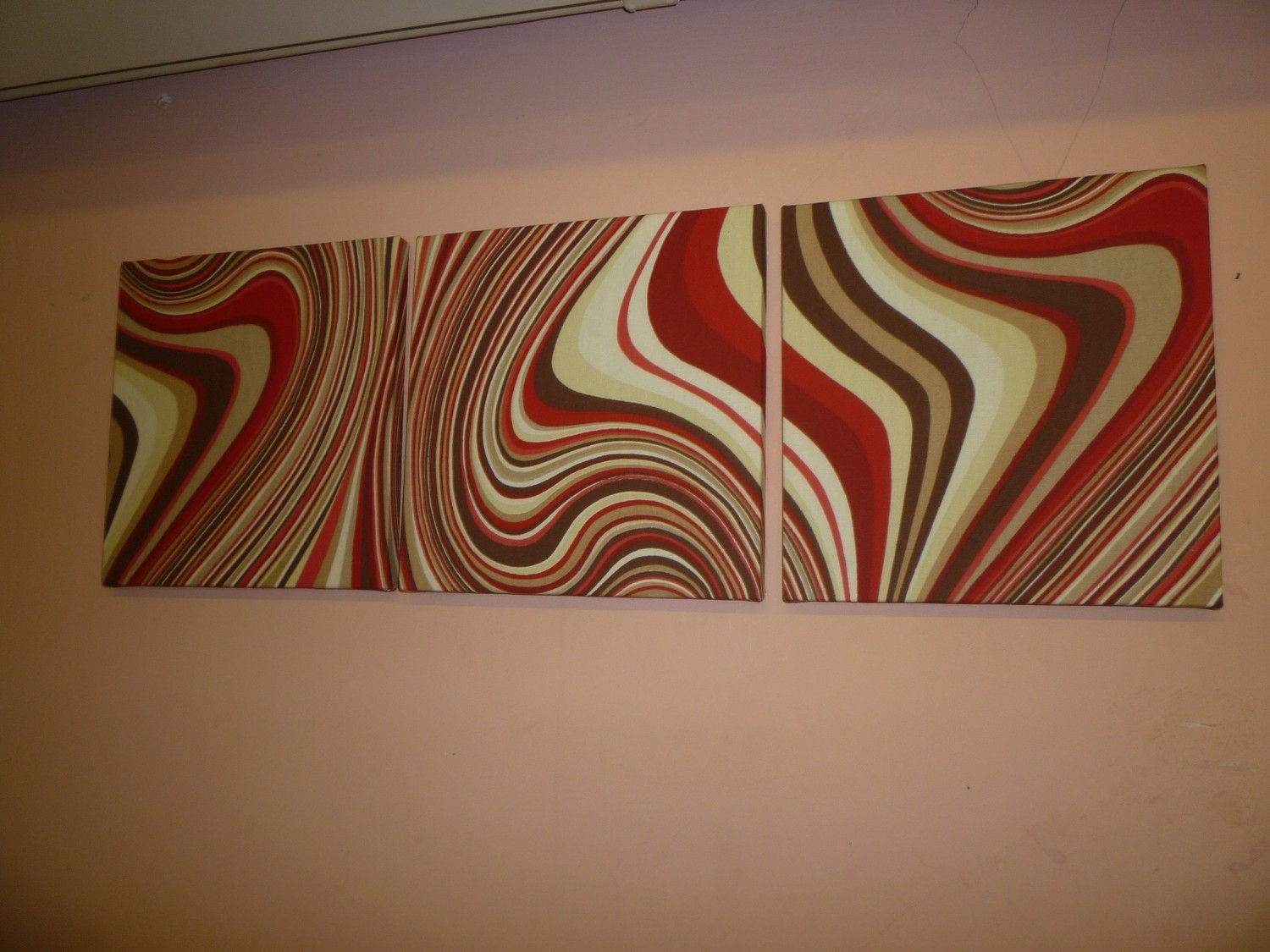 Decoration Ideas: Magnificent Reddish Abstract Fabric Wall Art And With Regard To Most Recent Abstract Fabric Wall Art (View 1 of 20)