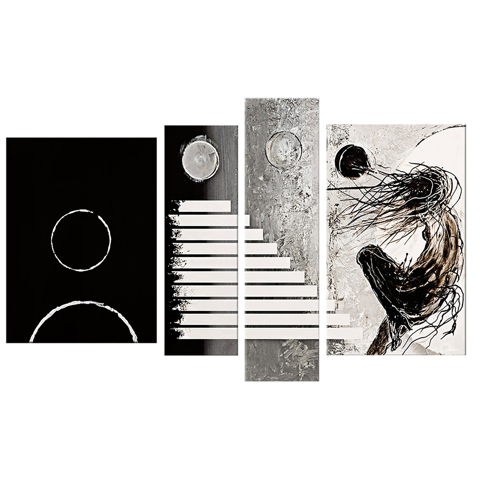 20 best collection of black and white abstract wall art. Black Bedroom Furniture Sets. Home Design Ideas