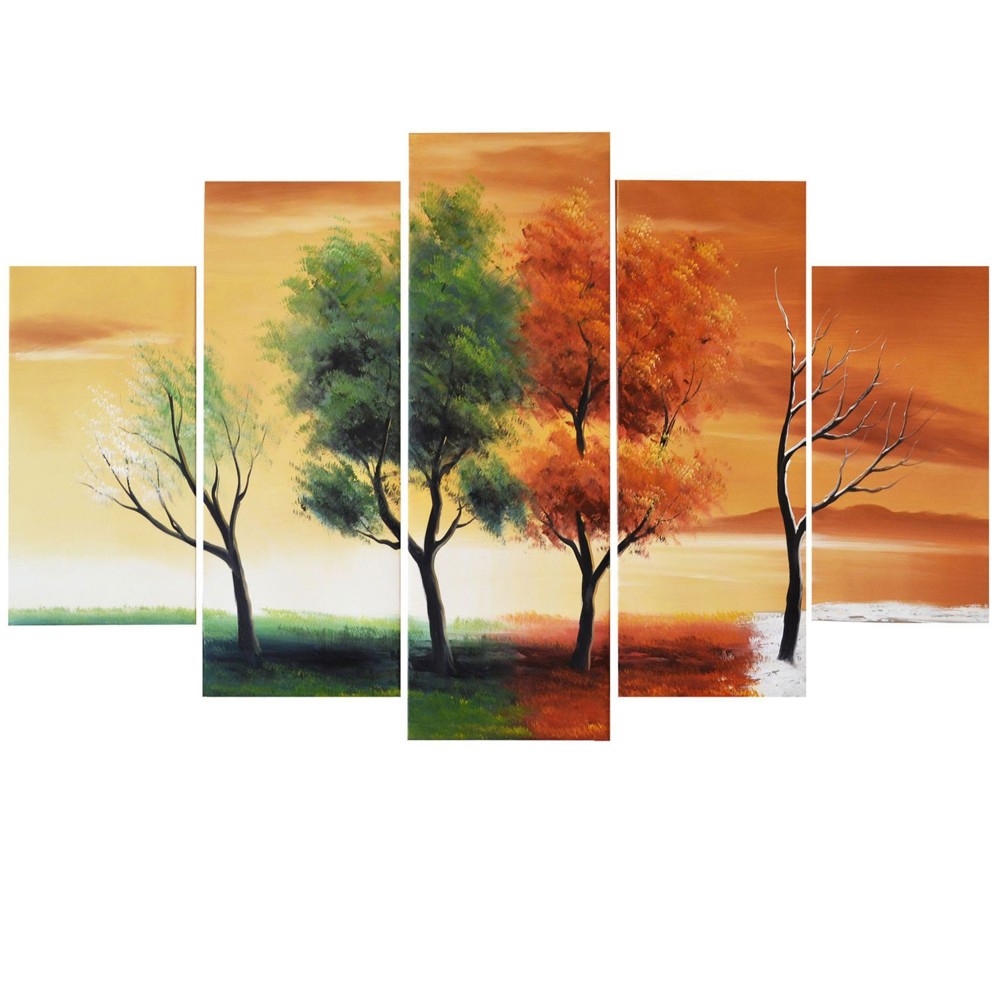 Description – Why Accent Canvas? This Exquisite Four Seasons Of With Most Recent Abstract Nature Canvas Wall Art (View 6 of 20)