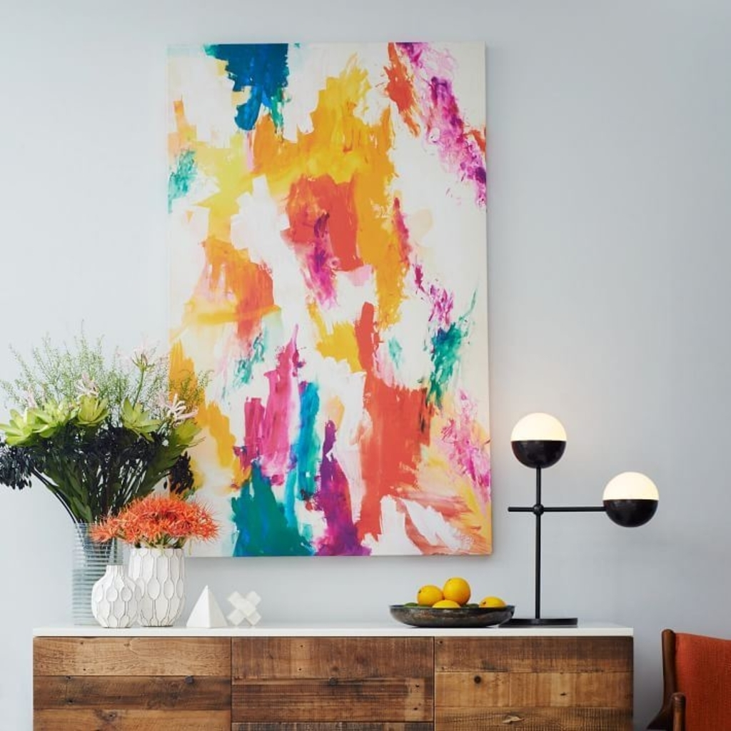 Design Ideas: Abstract Wall Art From West Elm – Color Your World Pertaining To Current West Elm Abstract Wall Art (View 1 of 20)