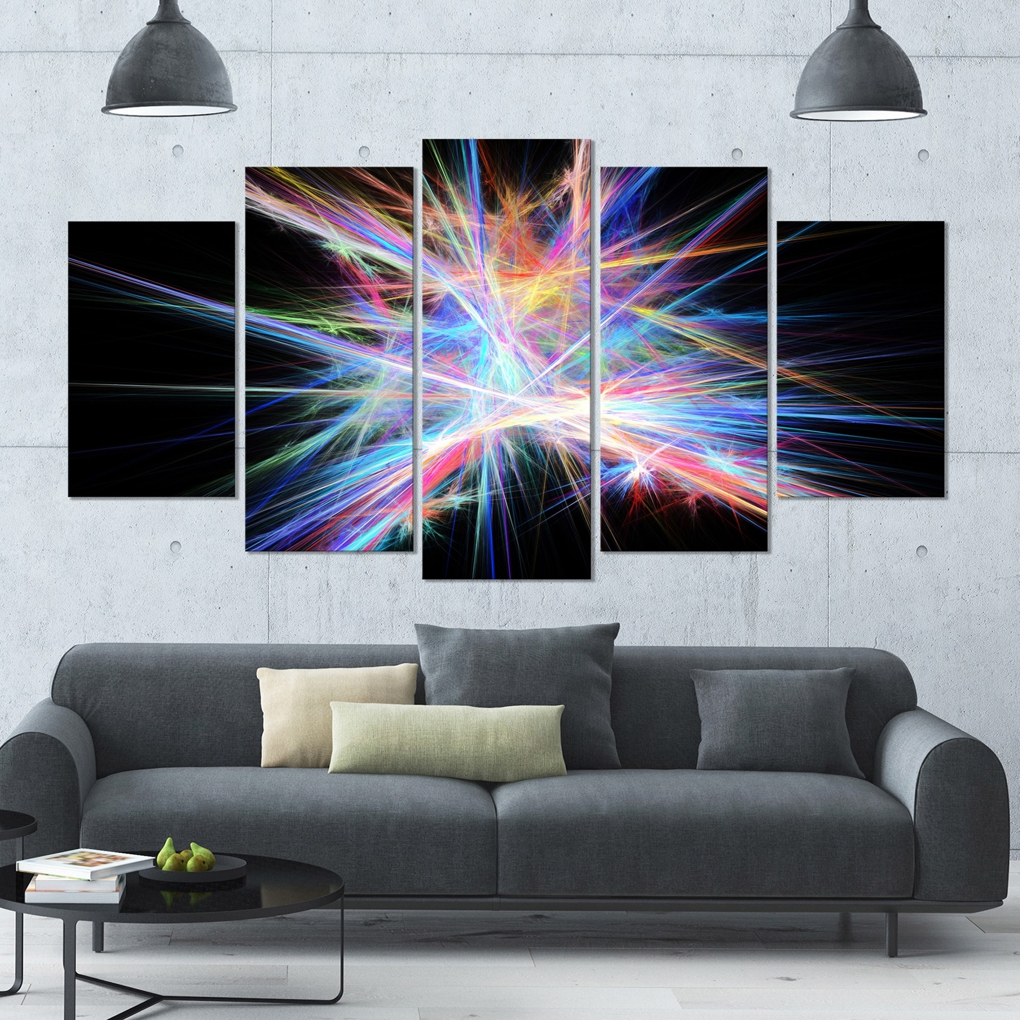 Designart 'light Blue Spectrum Of Light' Abstract Wall Art On In Recent Light Abstract Wall Art (View 4 of 20)
