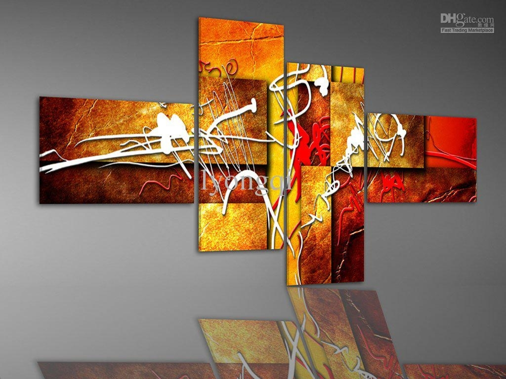 Discount Hand Painted Hi Q Abstract Oil Painting On Canvas Bright Pertaining To 2017 Abstract Oil Painting Wall Art (View 18 of 20)