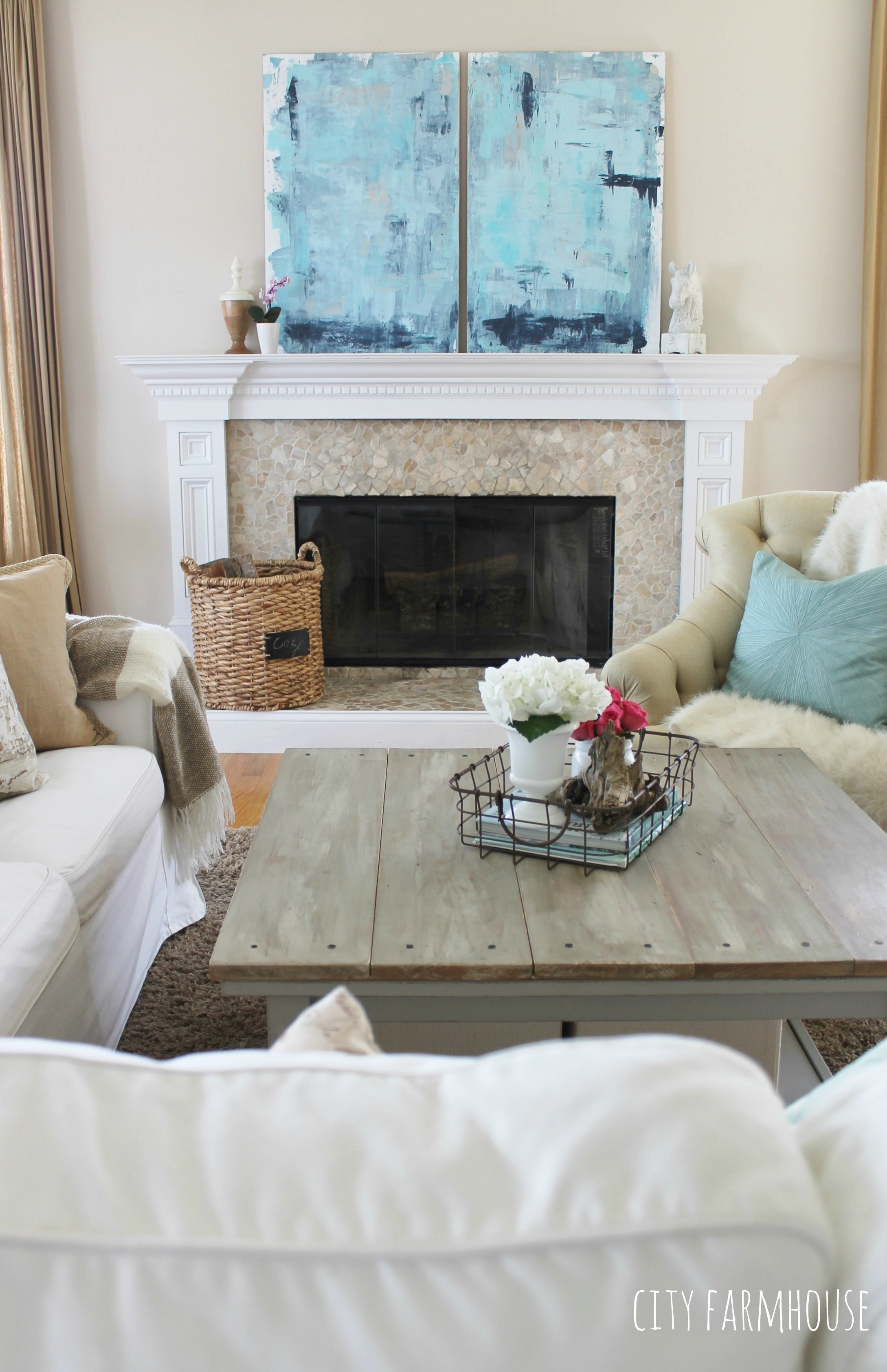 Diy Abstract Art A Coastal Look For Under $30 – City Farmhouse For Current Neutral Abstract Wall Art (View 8 of 20)