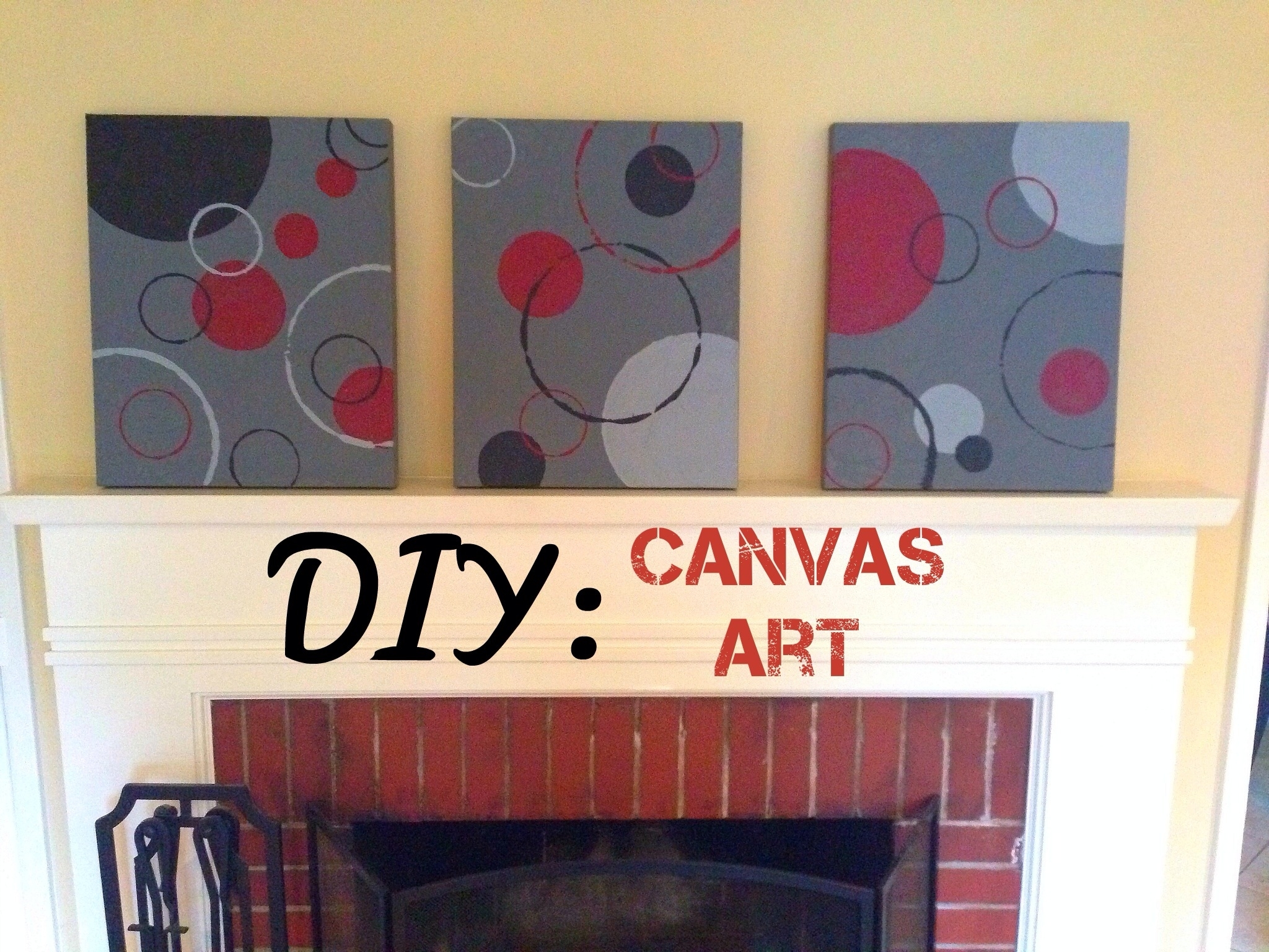 Diy Canvas Art: Circles – Bulldogs And Brown Sugar With 2018 Abstract Circles Wall Art (View 17 of 20)