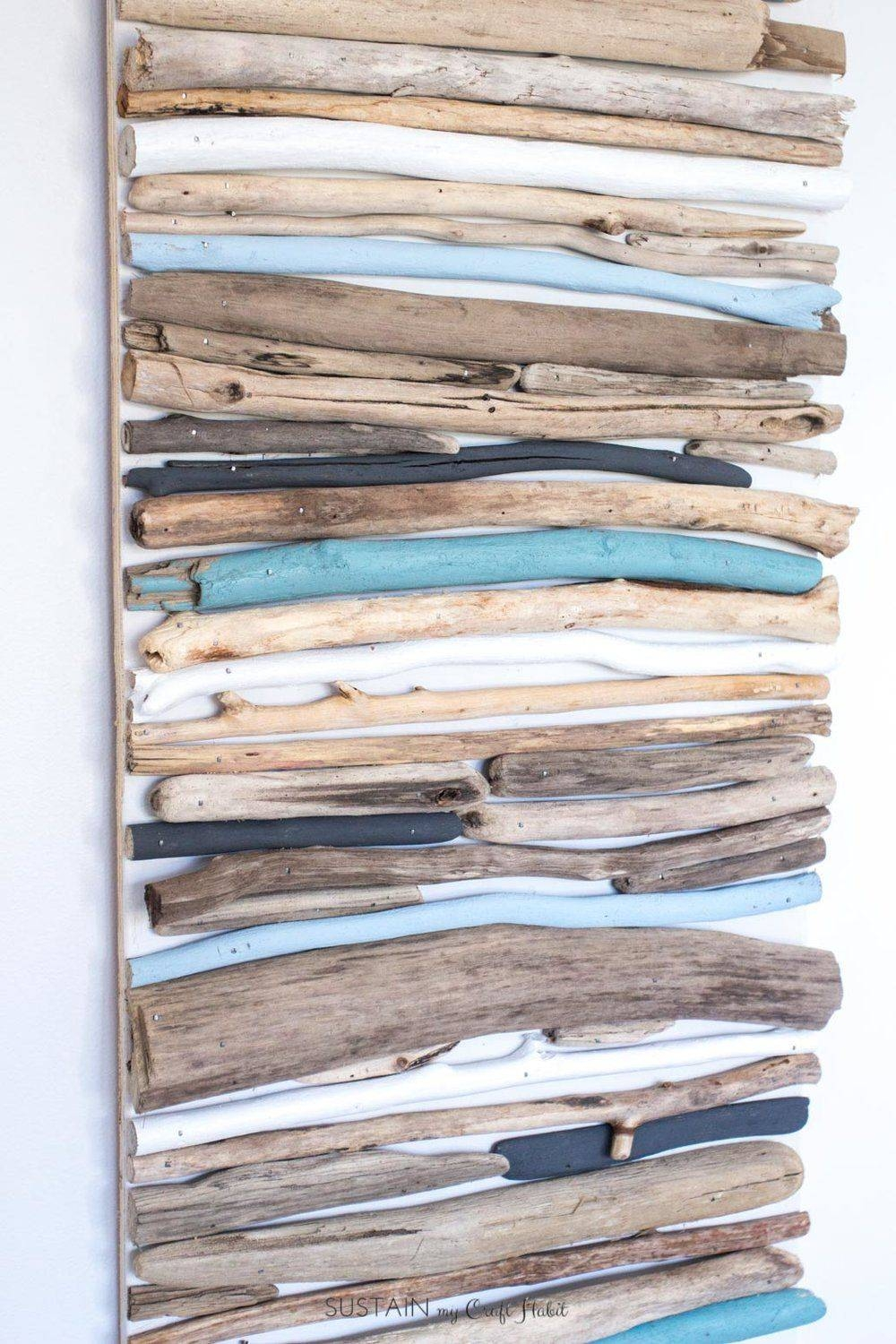 Diy Coastal Decor – Painted Driftwood Wall Art | Driftwood Wall In Current Coastal Wall Art Decor (View 11 of 20)