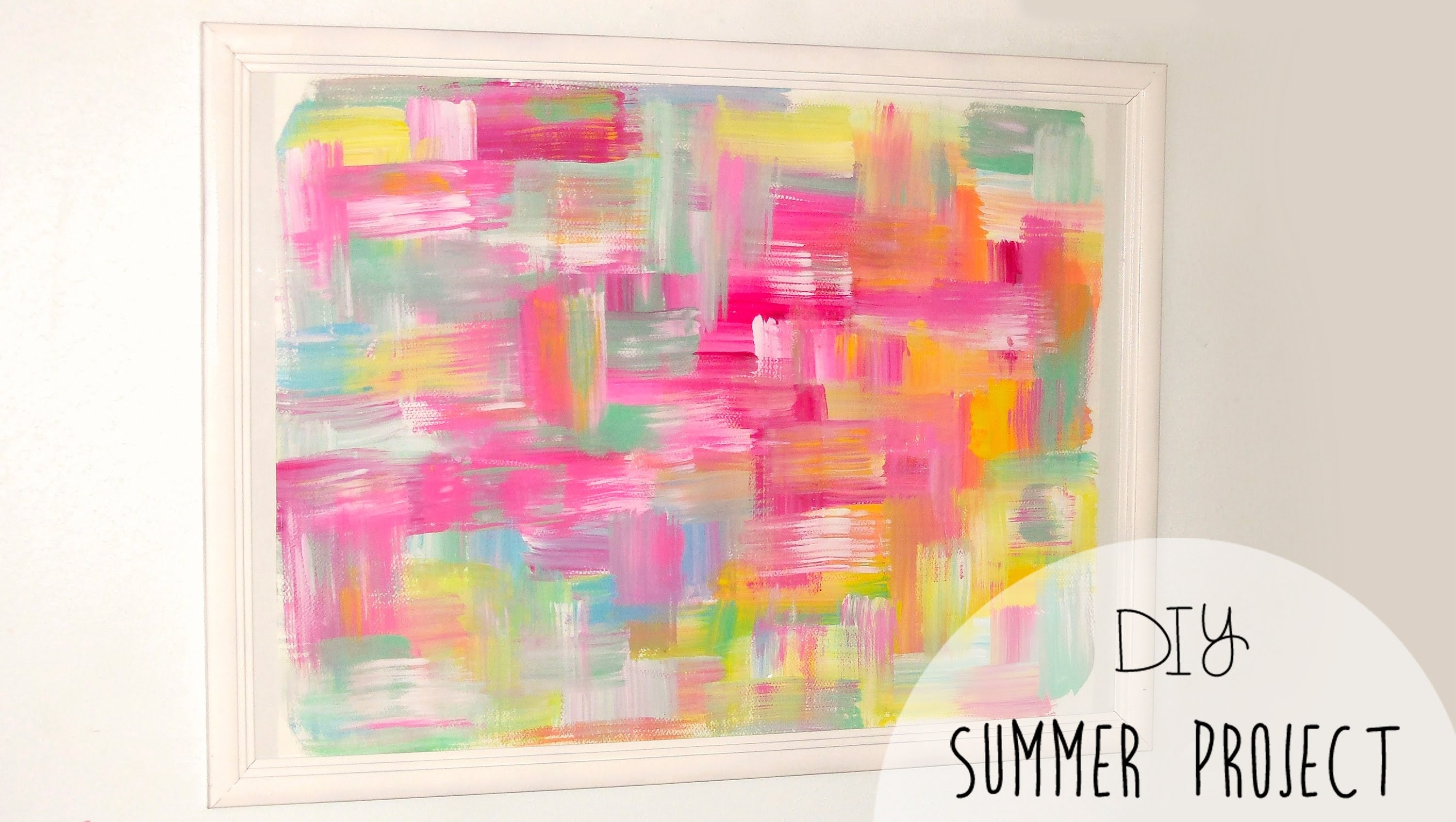 Diy Easy Room Decor! Abstract Wall Art – Youtube Pertaining To 2018 Diy Abstract Wall Art (View 3 of 20)