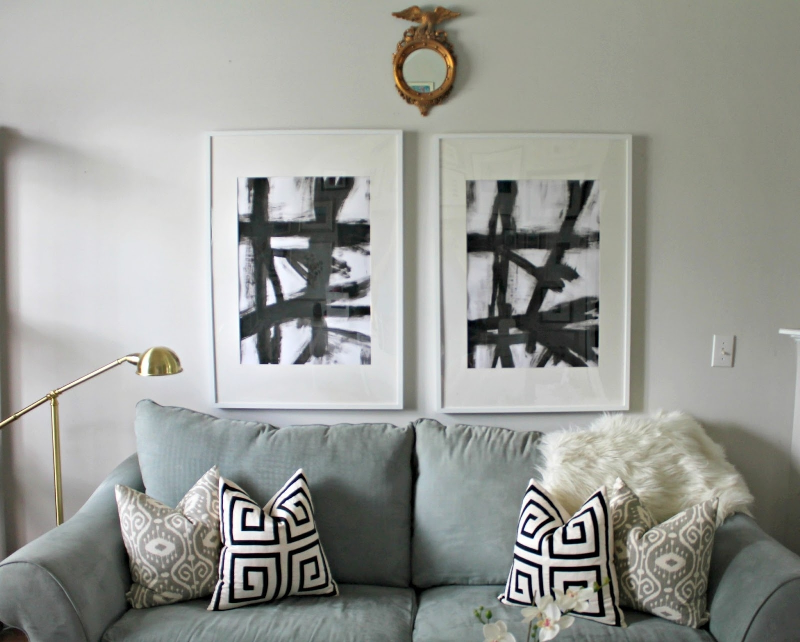 Diy Knock Off West Elm Abstract Art – Shannon Claire With Most Popular West Elm Abstract Wall Art (View 11 of 20)
