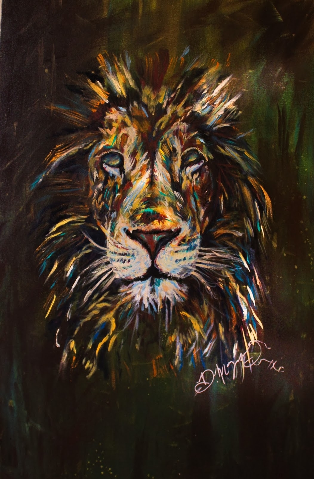 Dona Morgan : Soul Of A Lion, 16X24 Canvas, Acrylic Paint With 2018 Abstract Lion Wall Art (View 14 of 20)
