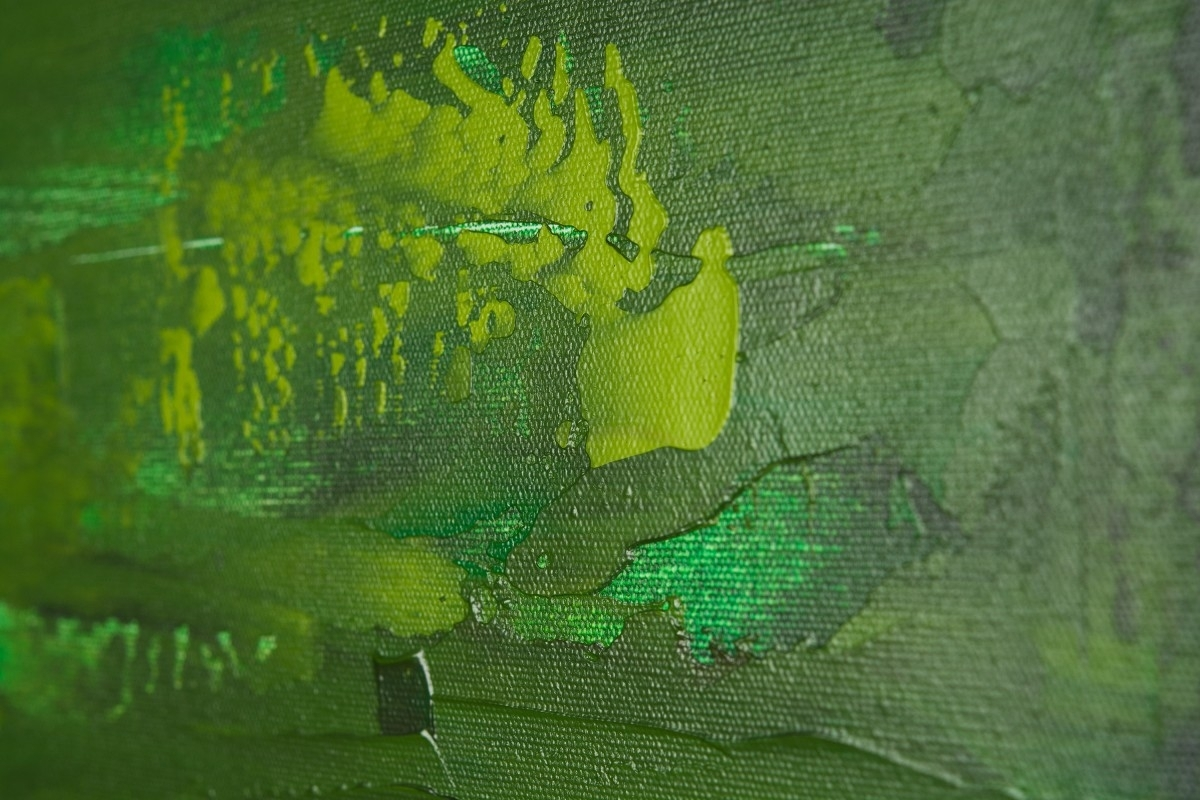 "Dreamqiqigallery 36""x24"" Original Modern Abstract Wall Regarding Most Recent Green Abstract Wall Art (View 7 of 20)"